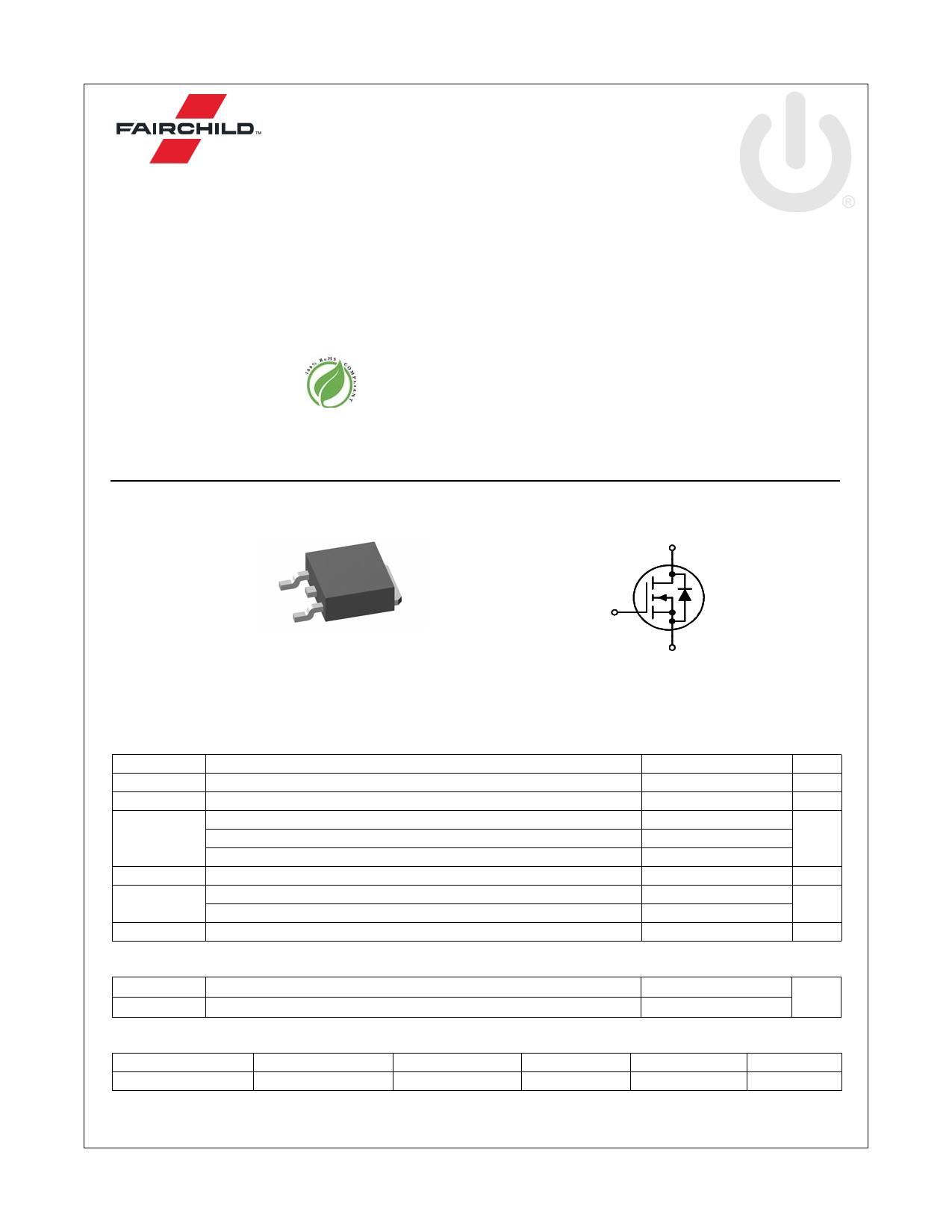 FDD5353 데이터시트 및 FDD5353 PDF