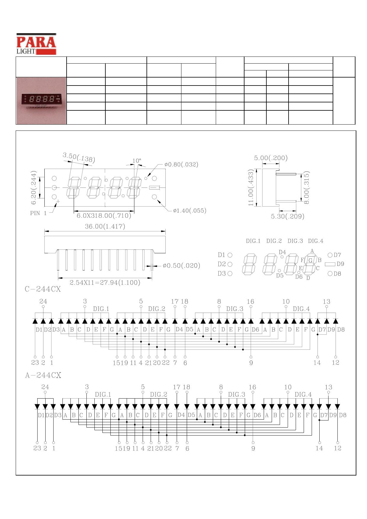 C-244CX دیتاشیت PDF