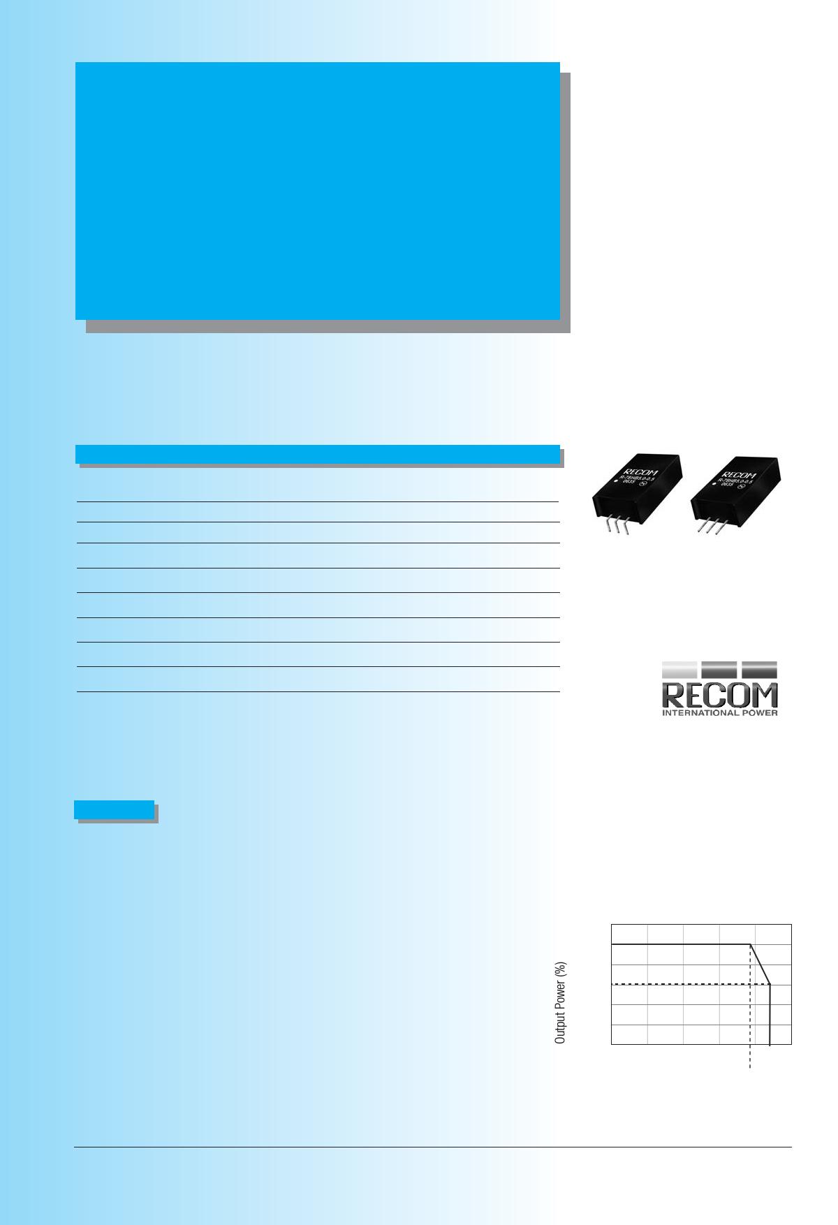 R-78HB3.3-0.5 Даташит, Описание, Даташиты