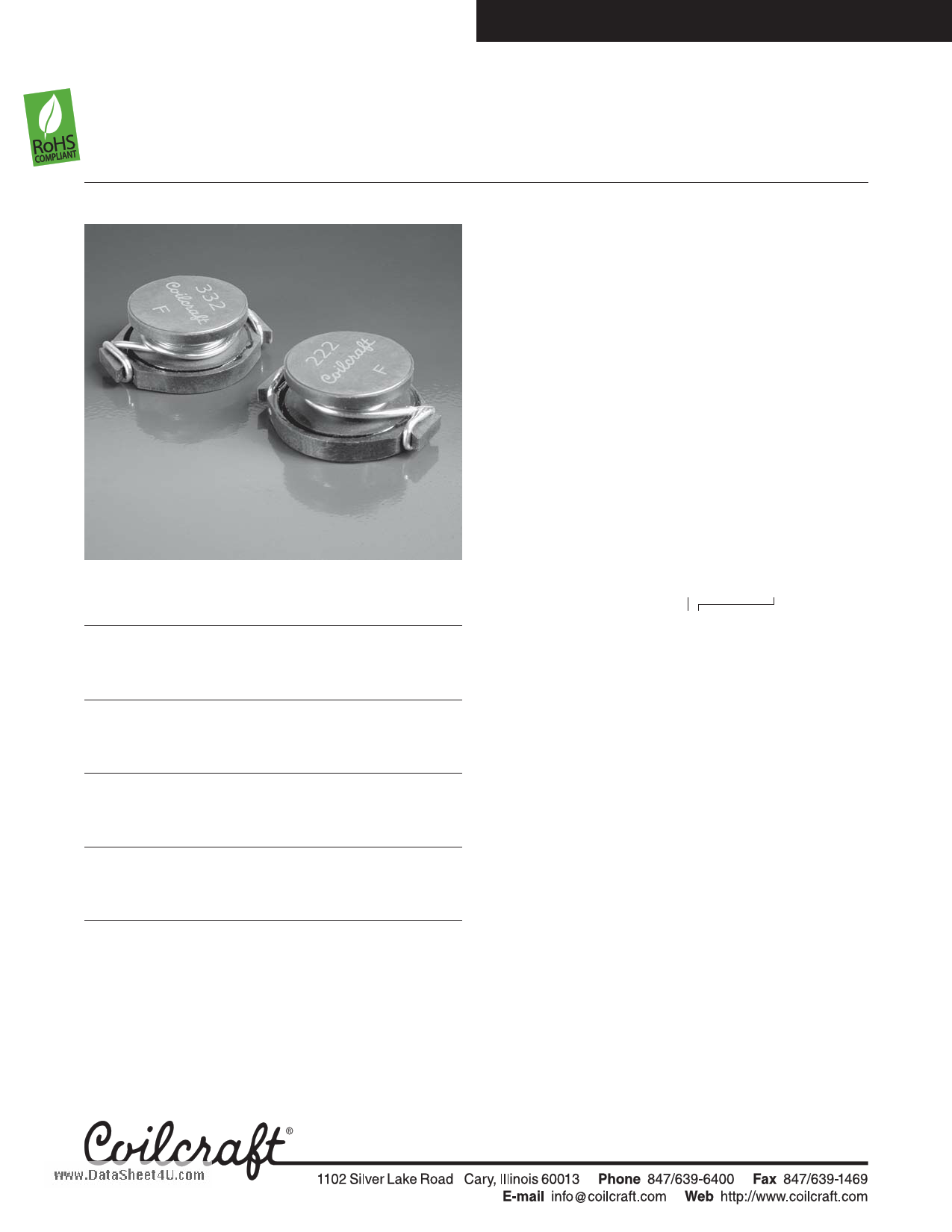DO5010H-152MLD Datasheet, DO5010H-152MLD PDF,ピン配置, 機能