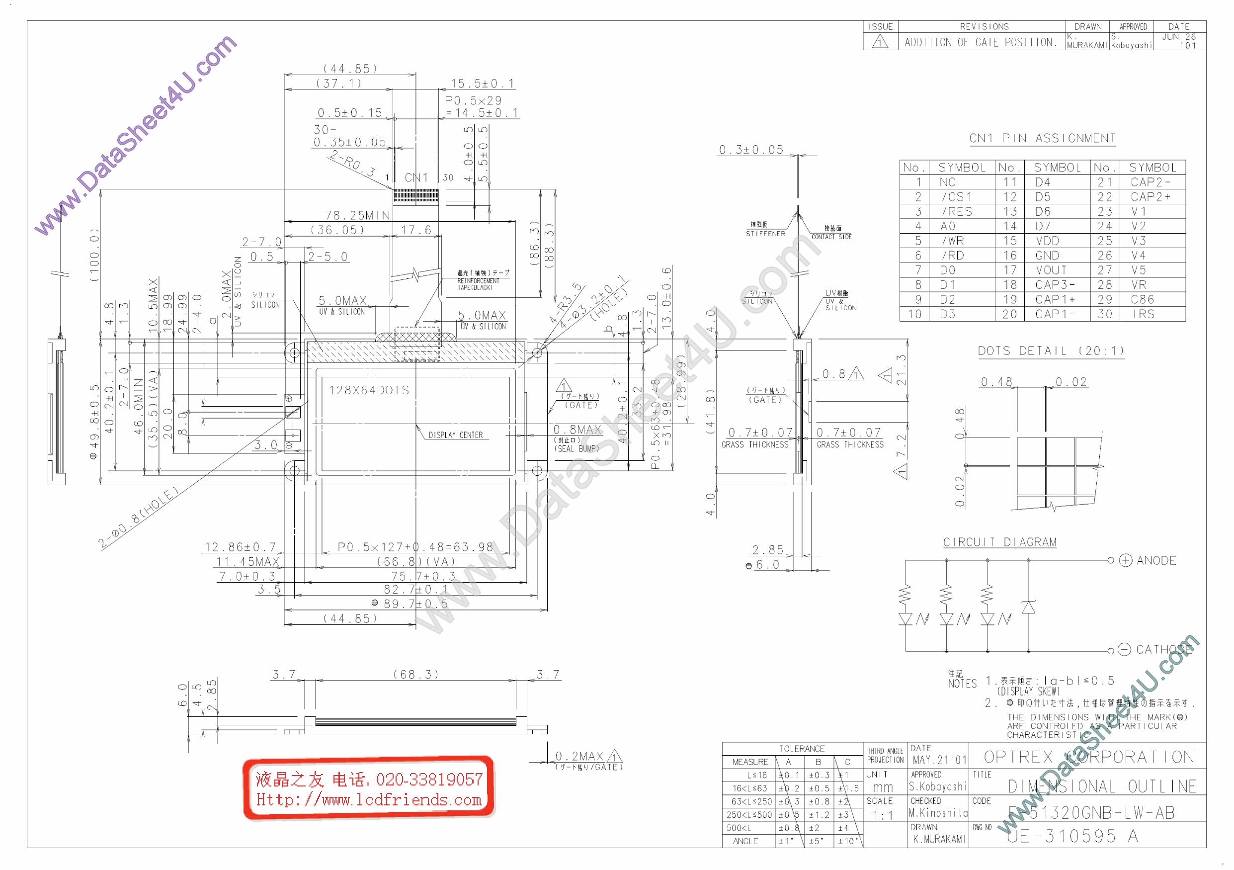 F-51320GNB-LY-AB Hoja de datos, Descripción, Manual