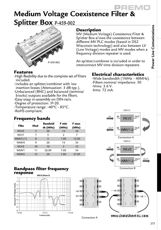 P-459-002 دیتاشیت PDF
