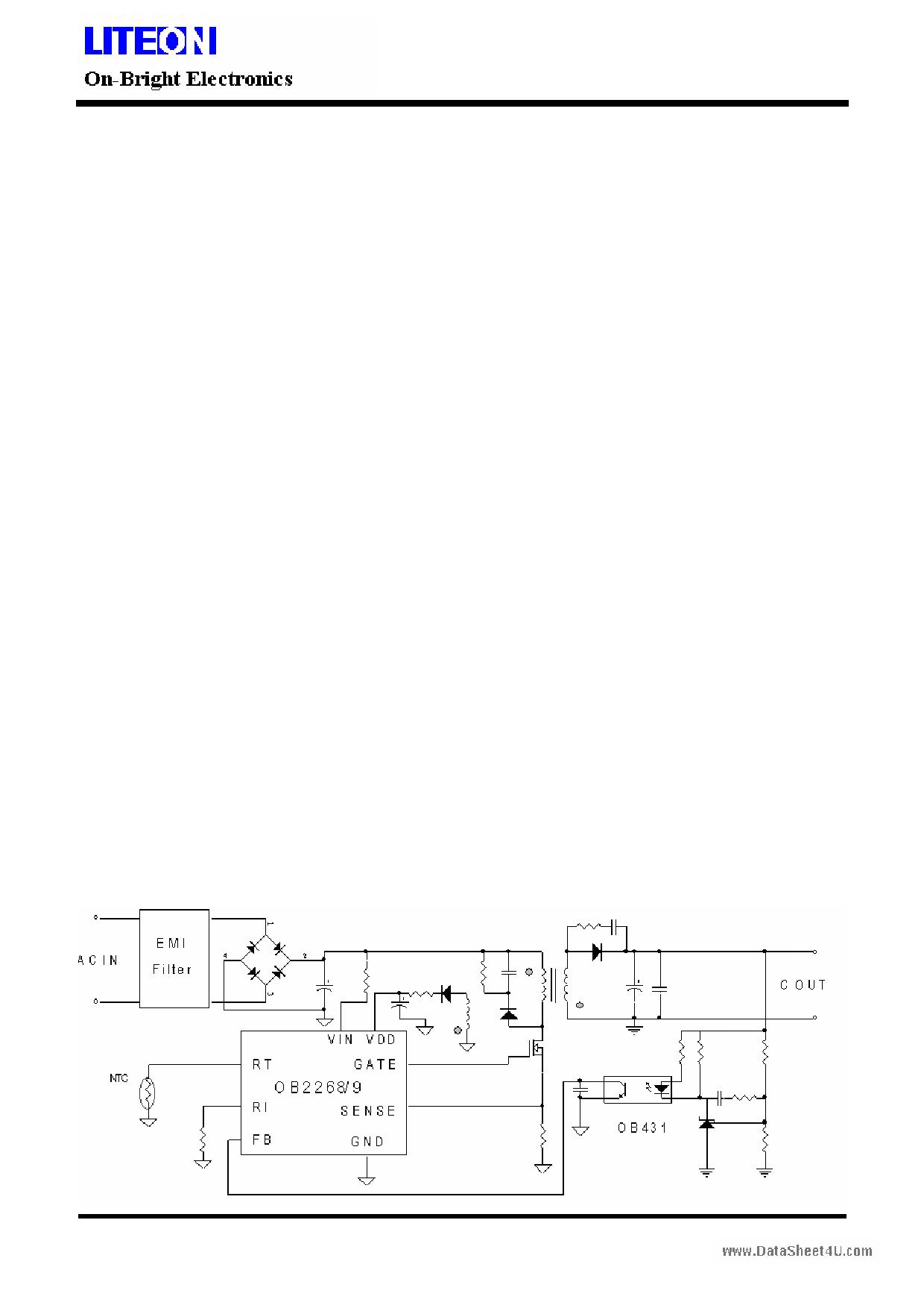 OB2268 دیتاشیت PDF