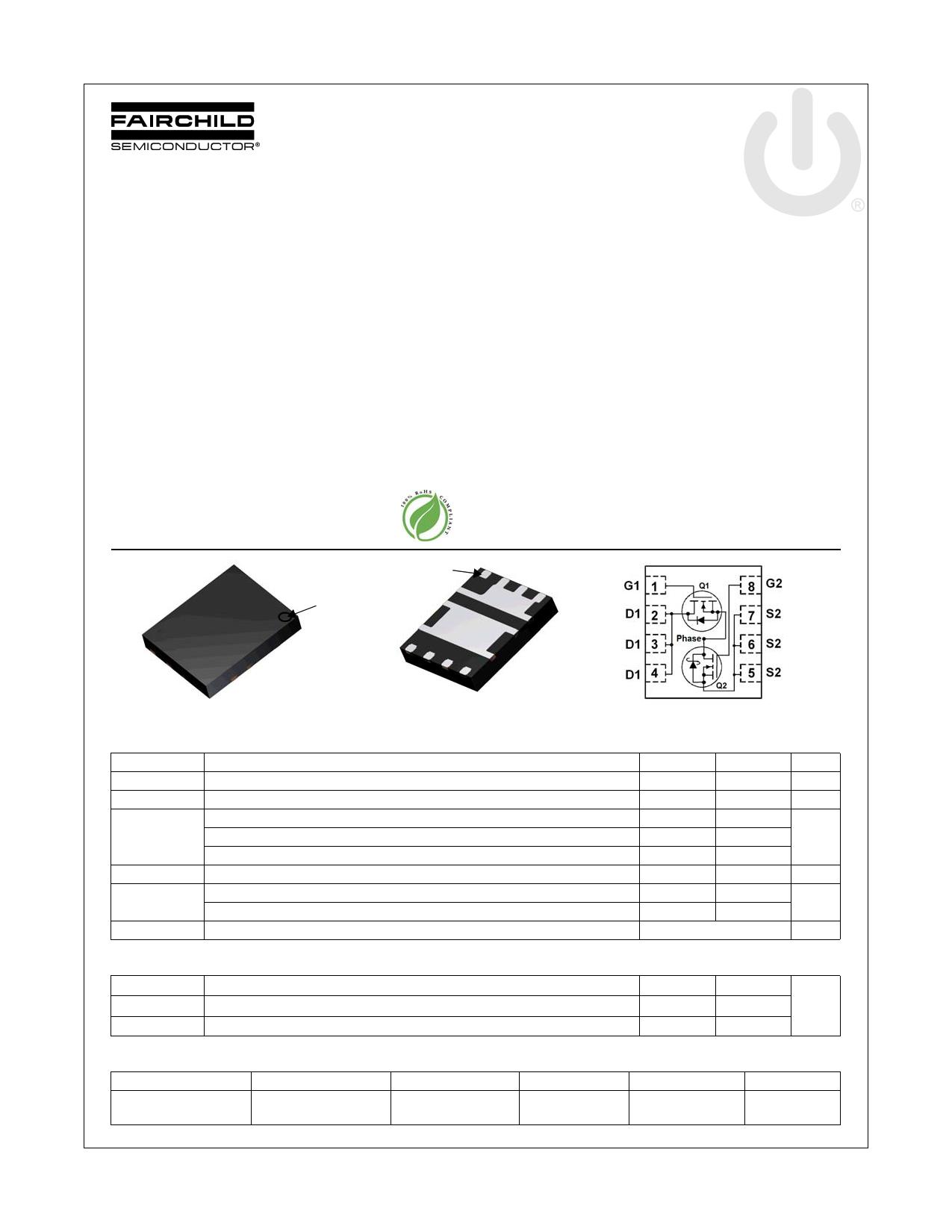 FDMS3626S 데이터시트 및 FDMS3626S PDF