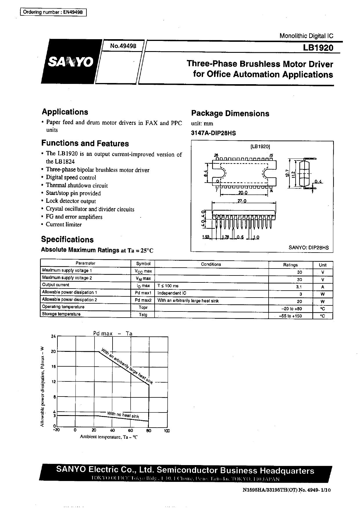 LB1920 datasheet