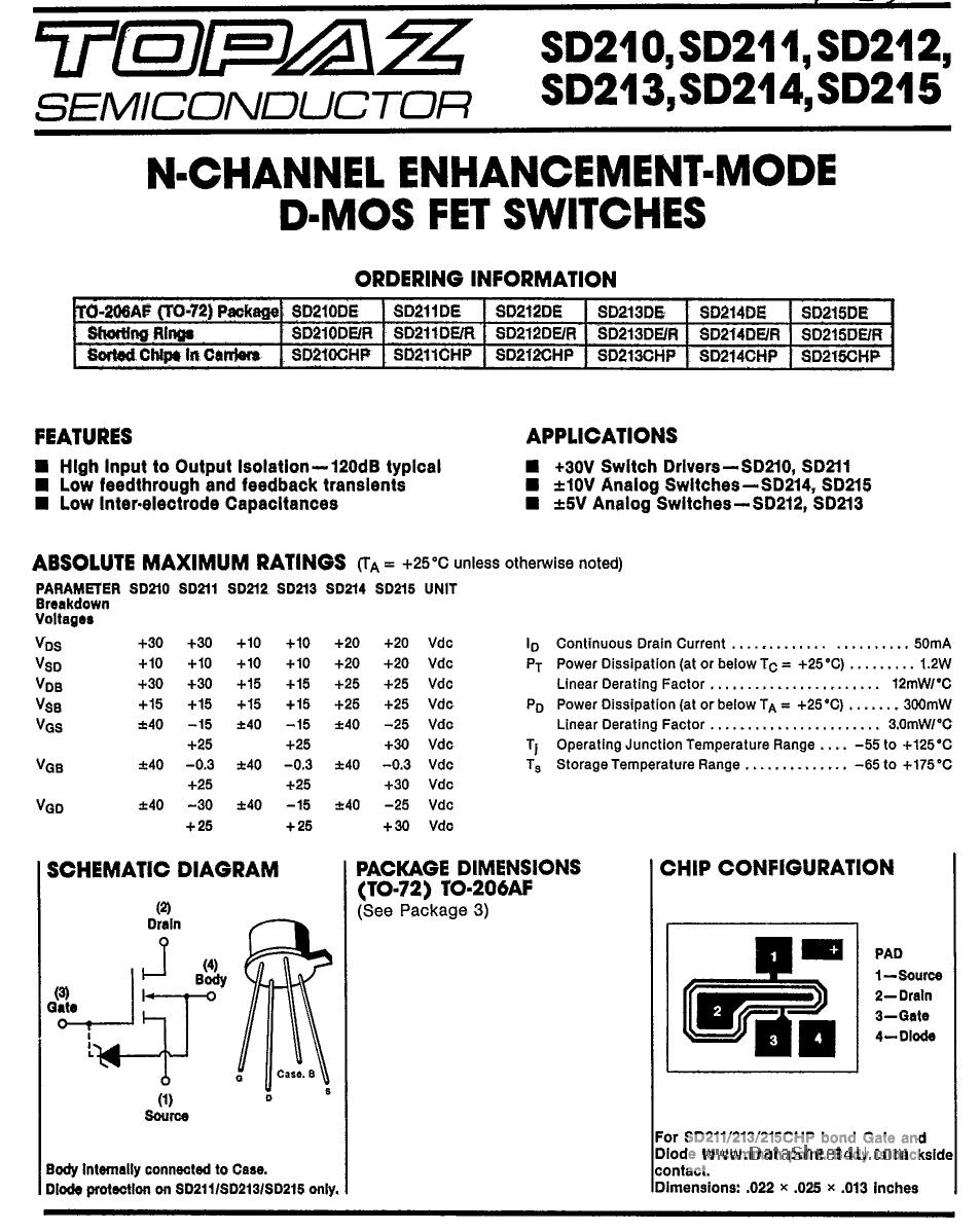 SD210 دیتاشیت PDF