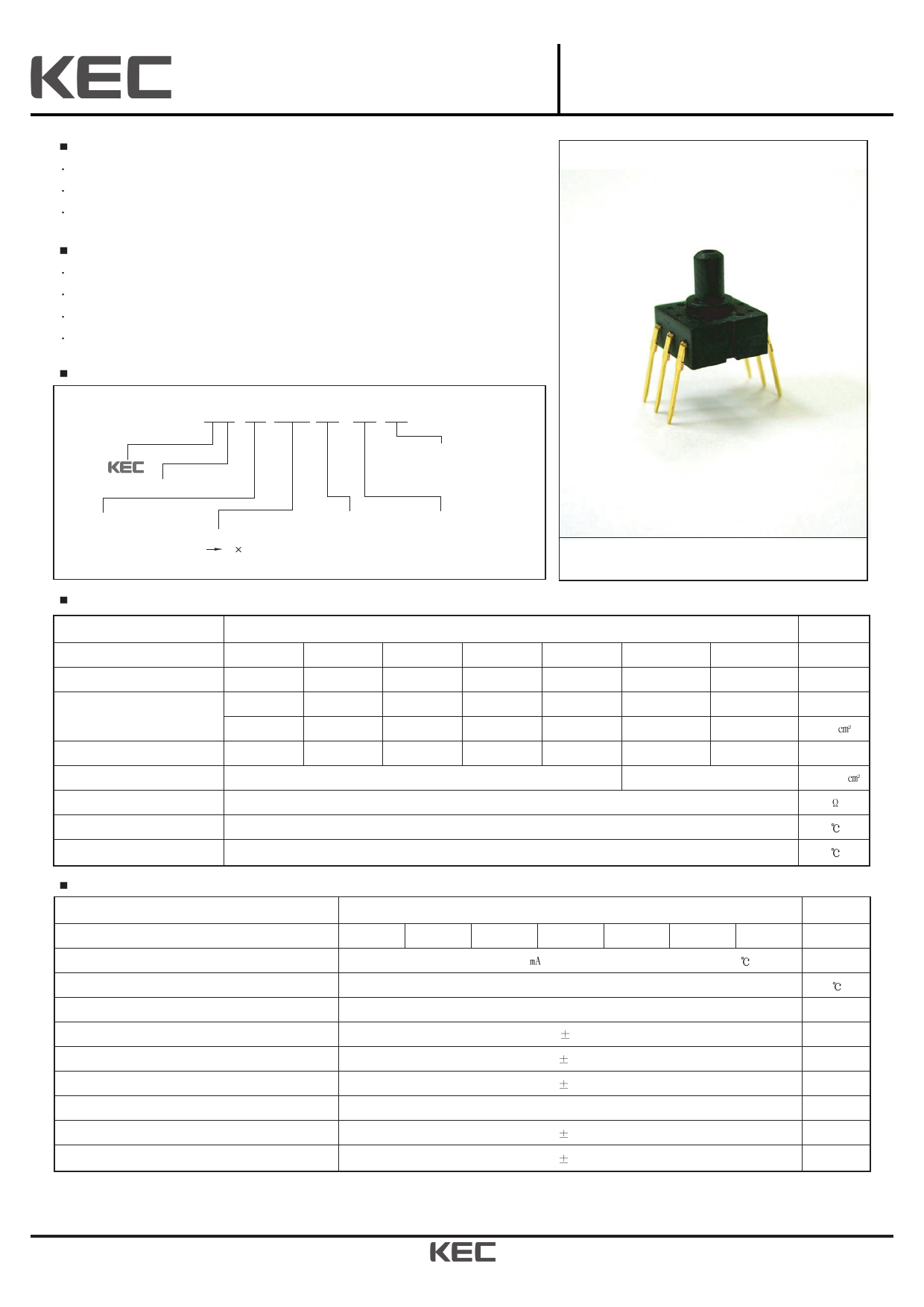 KPF801G01 데이터시트 및 KPF801G01 PDF