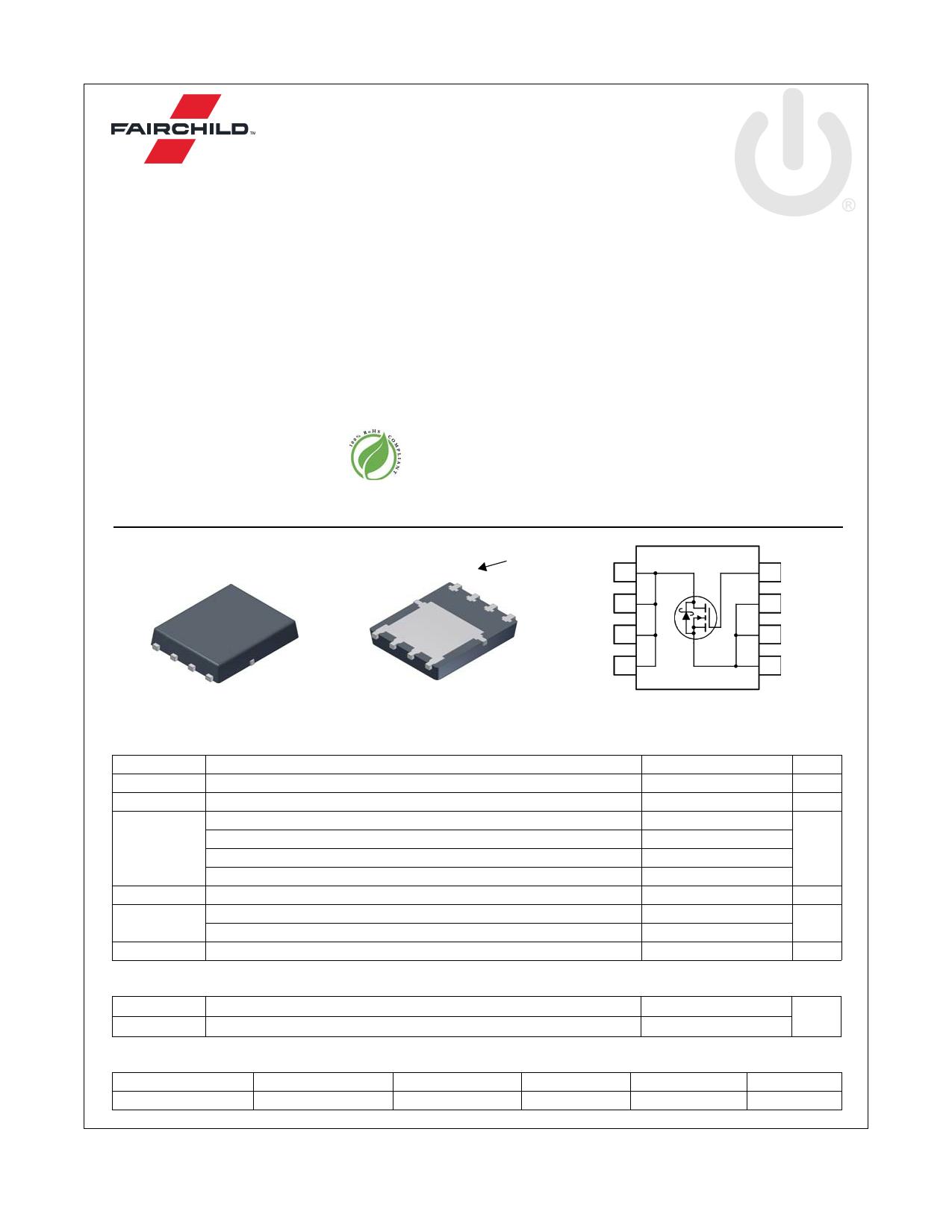 FDMS7572S 데이터시트 및 FDMS7572S PDF