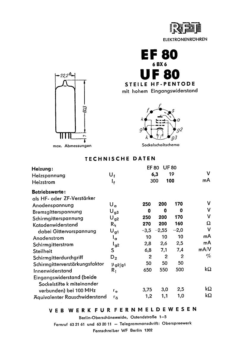UF80 datasheet, circuit