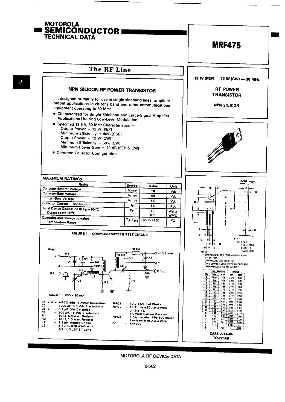 mrf475 datasheet pdf   pinout