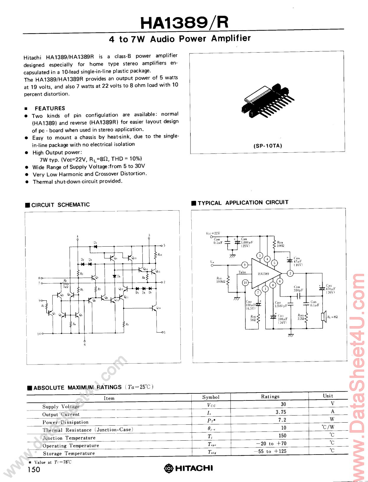 HA1389R دیتاشیت PDF