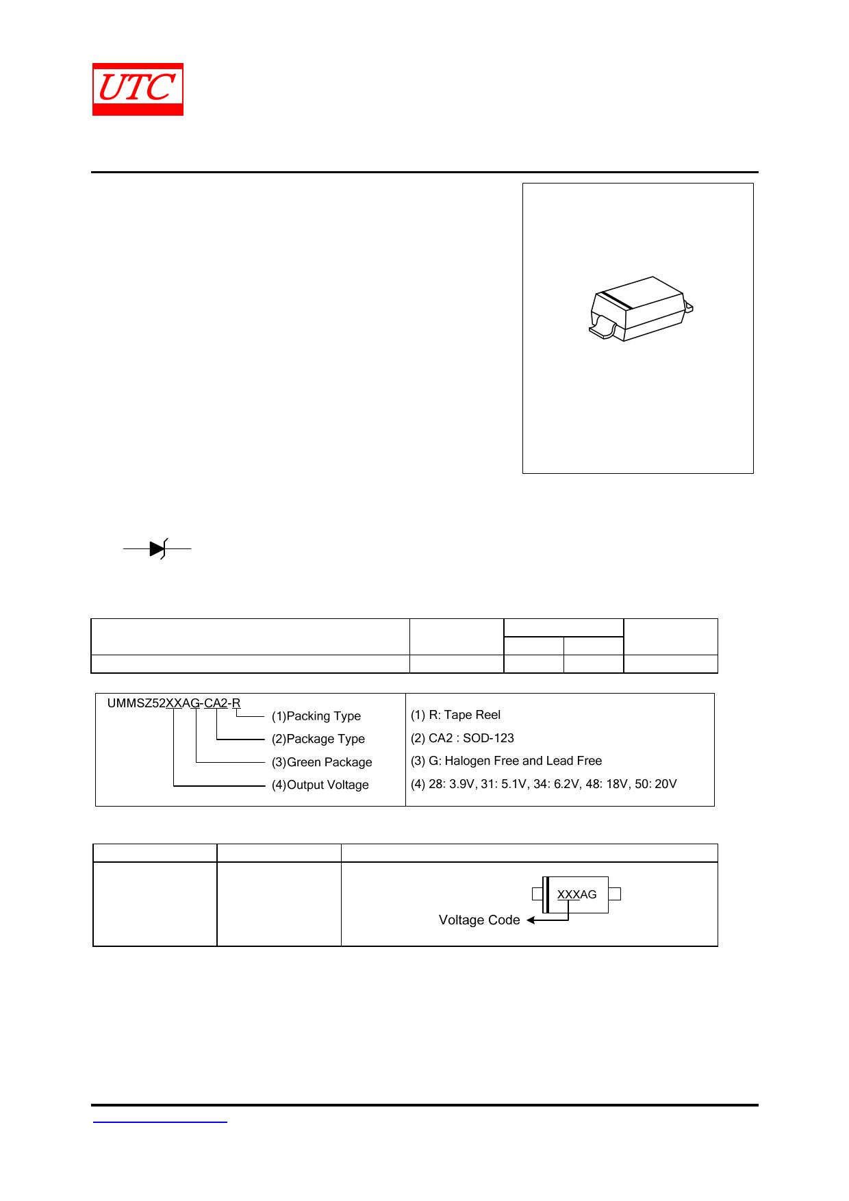 UMMSZ52XXA datasheet, circuit