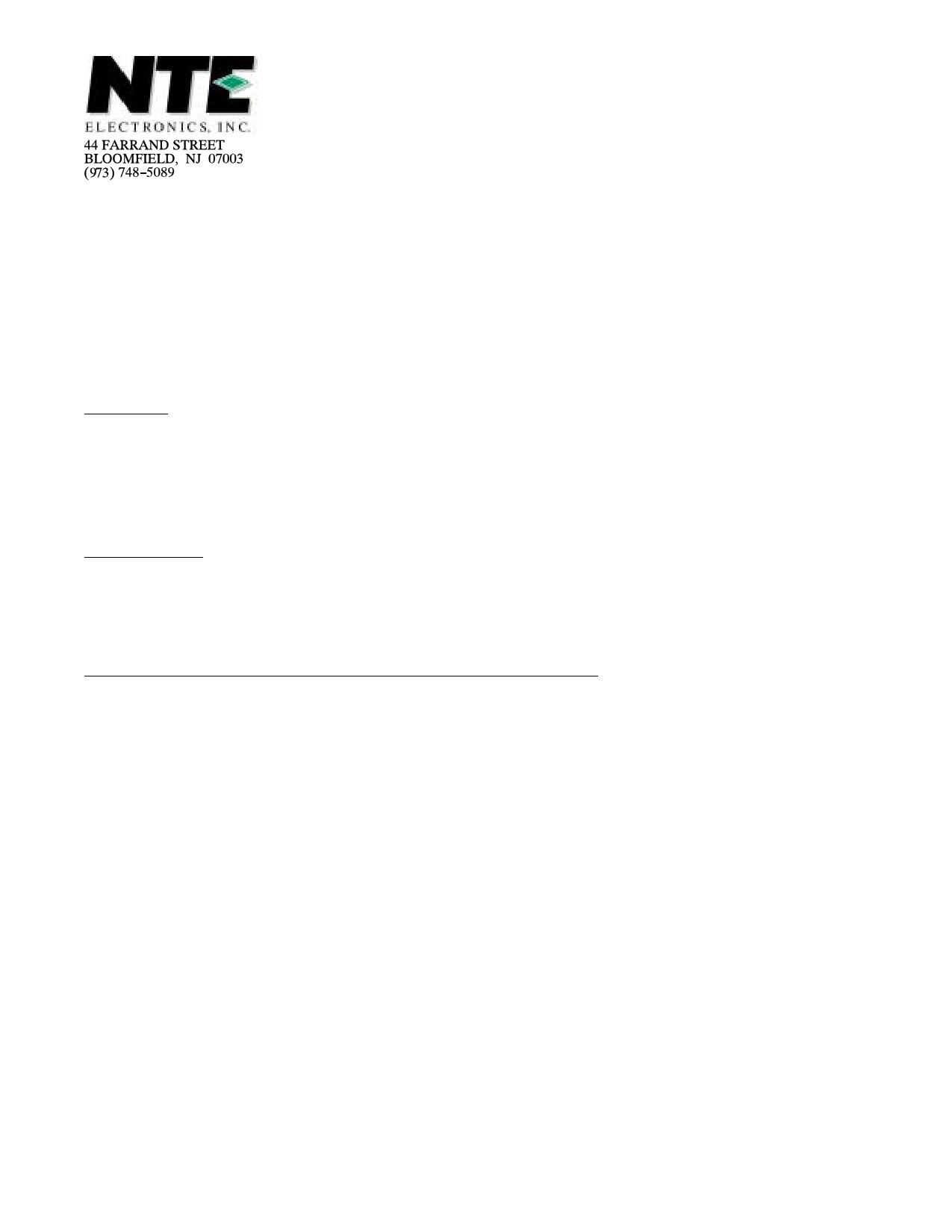 NTE5589 دیتاشیت PDF