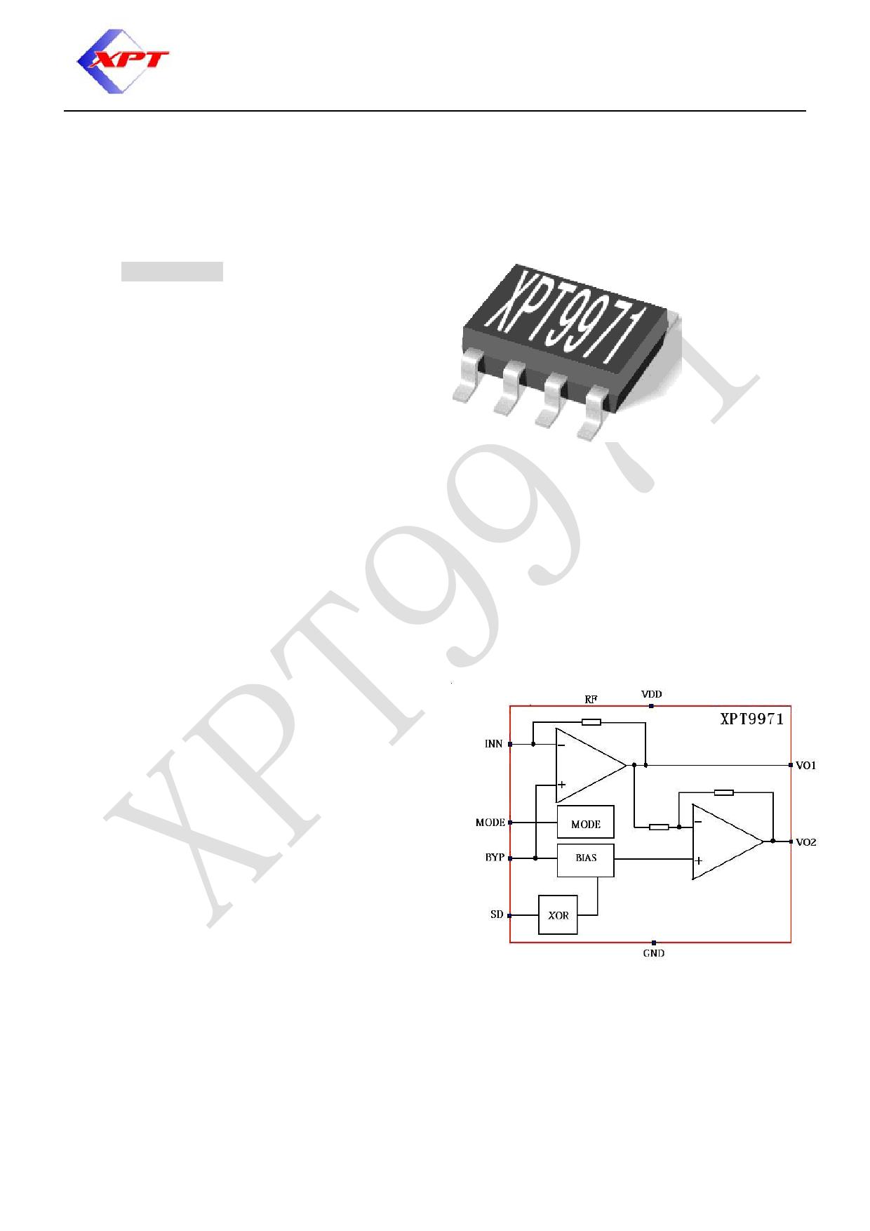 XPT9971 datasheet, circuit