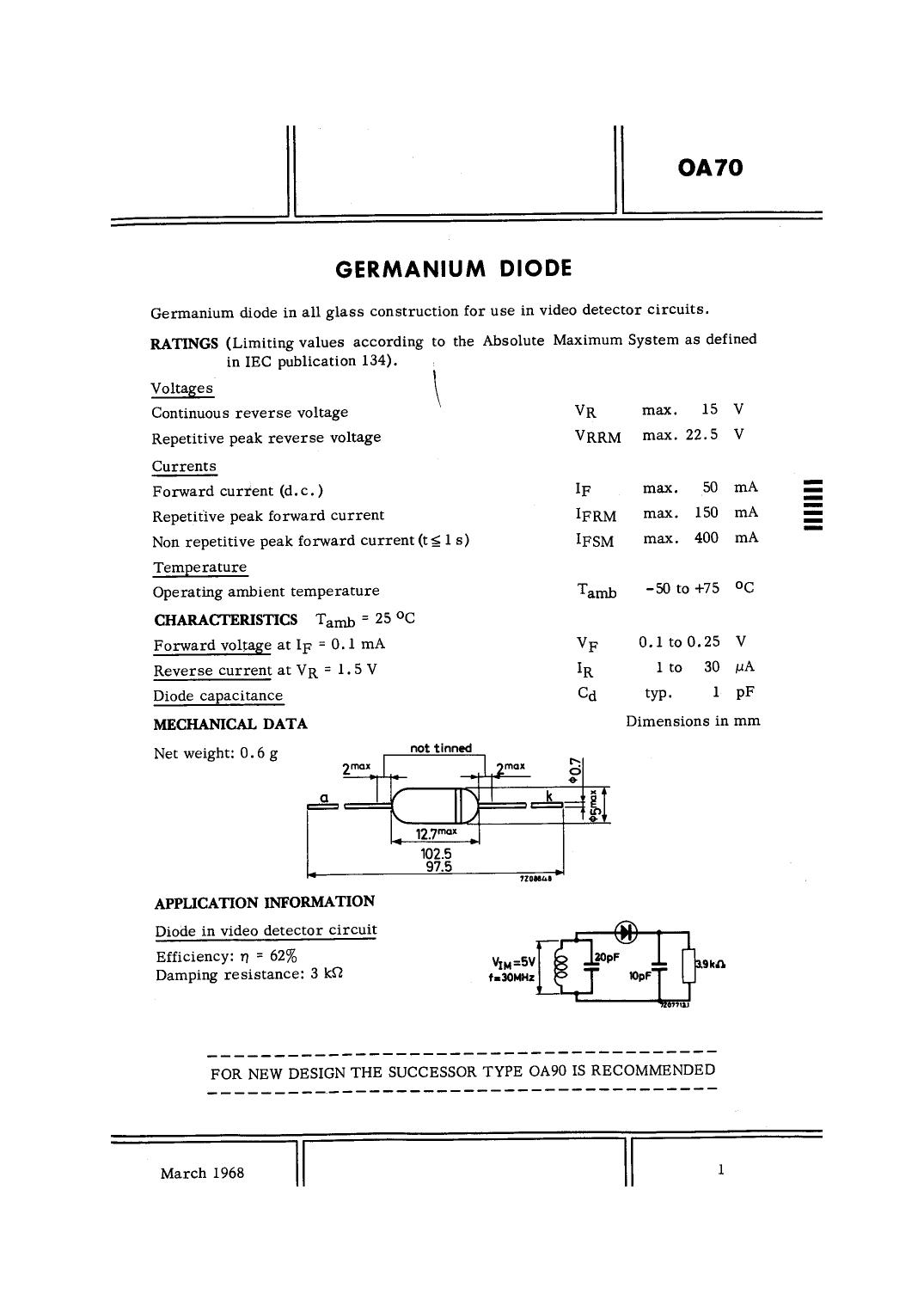 OA70 دیتاشیت PDF