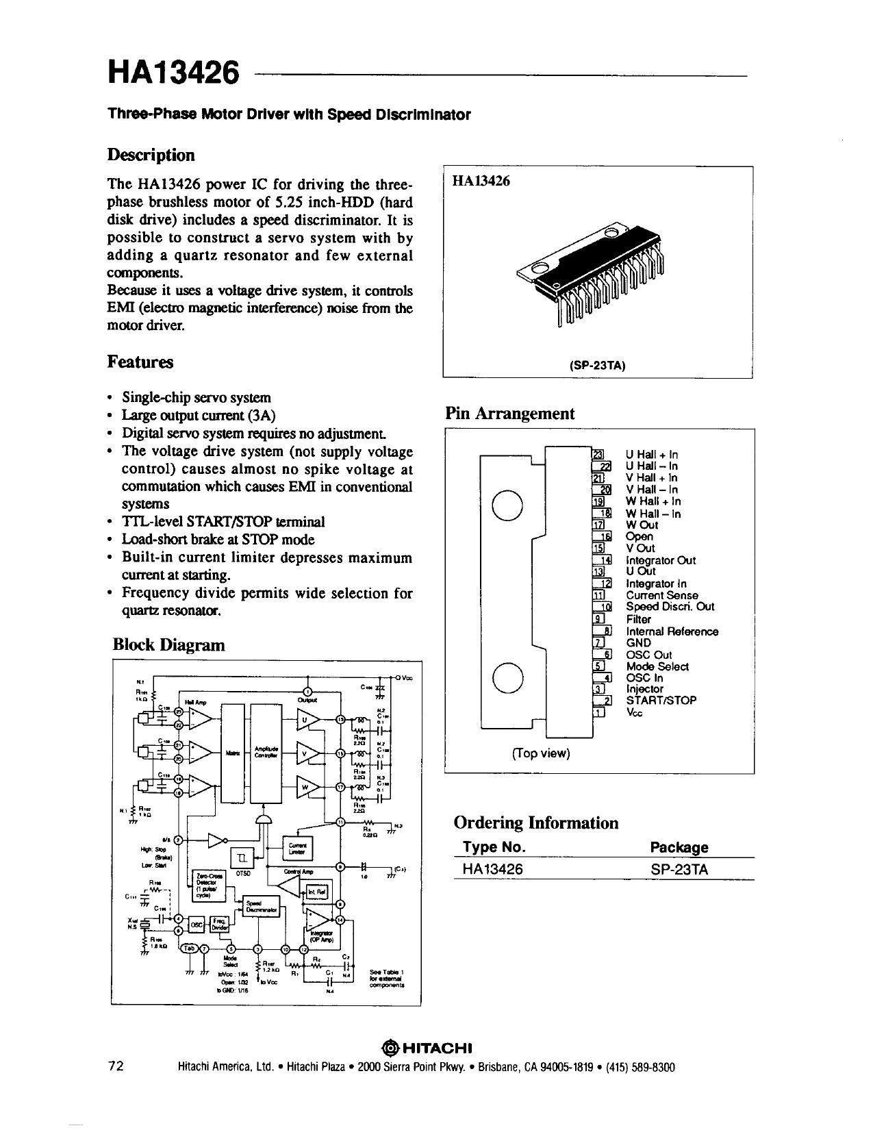HA13426 دیتاشیت PDF