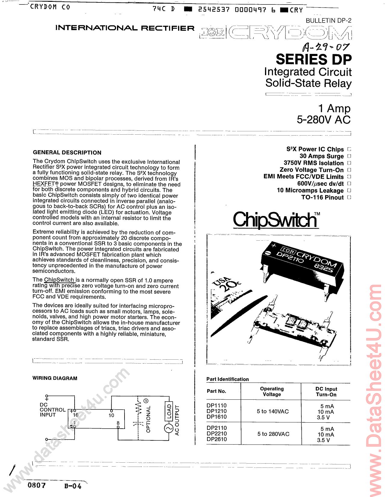dp2610 hoja de datos   datasheet pdf