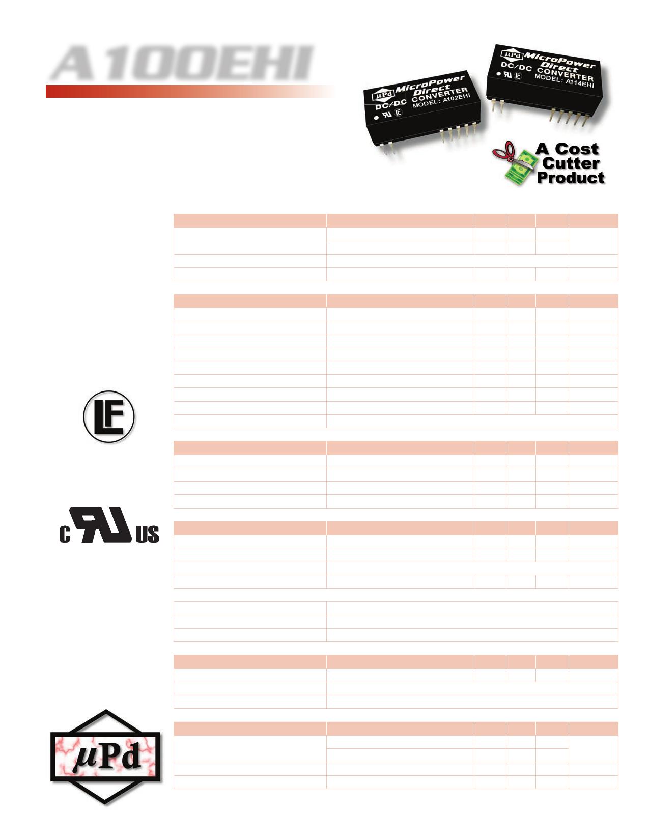 A100EHI Datasheet, A100EHI PDF,ピン配置, 機能