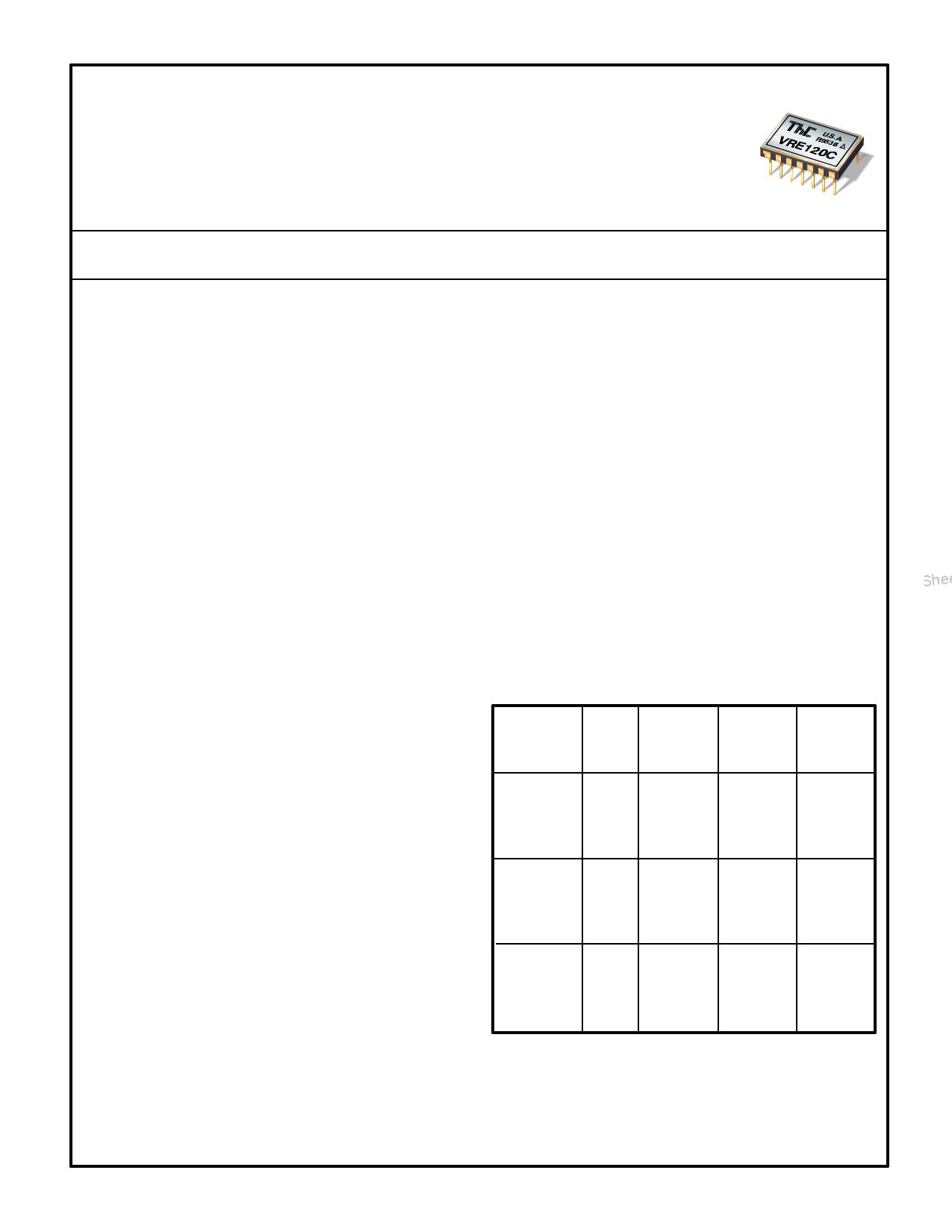 VRE122 datasheet