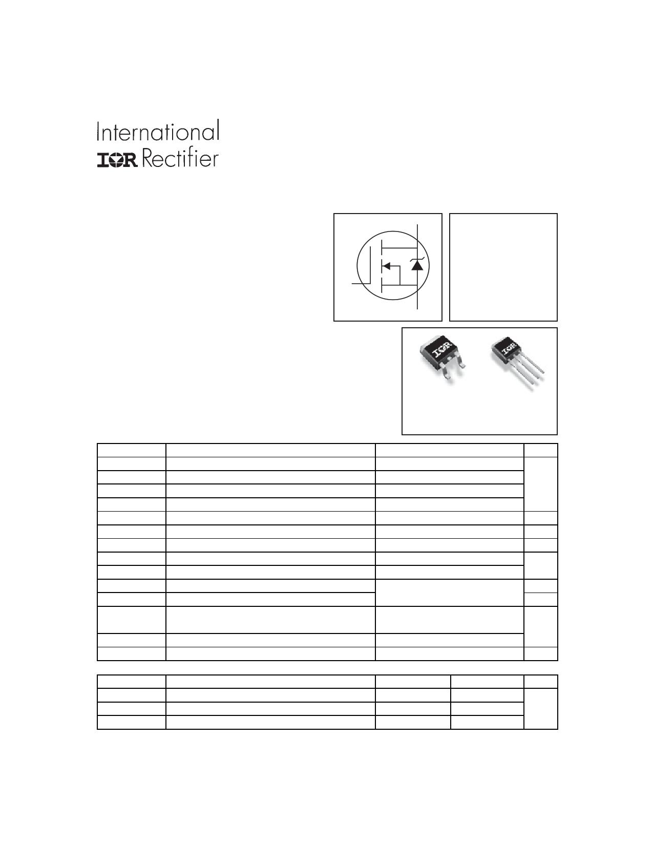 IRFU2607Z Datasheet, IRFU2607Z PDF,ピン配置, 機能