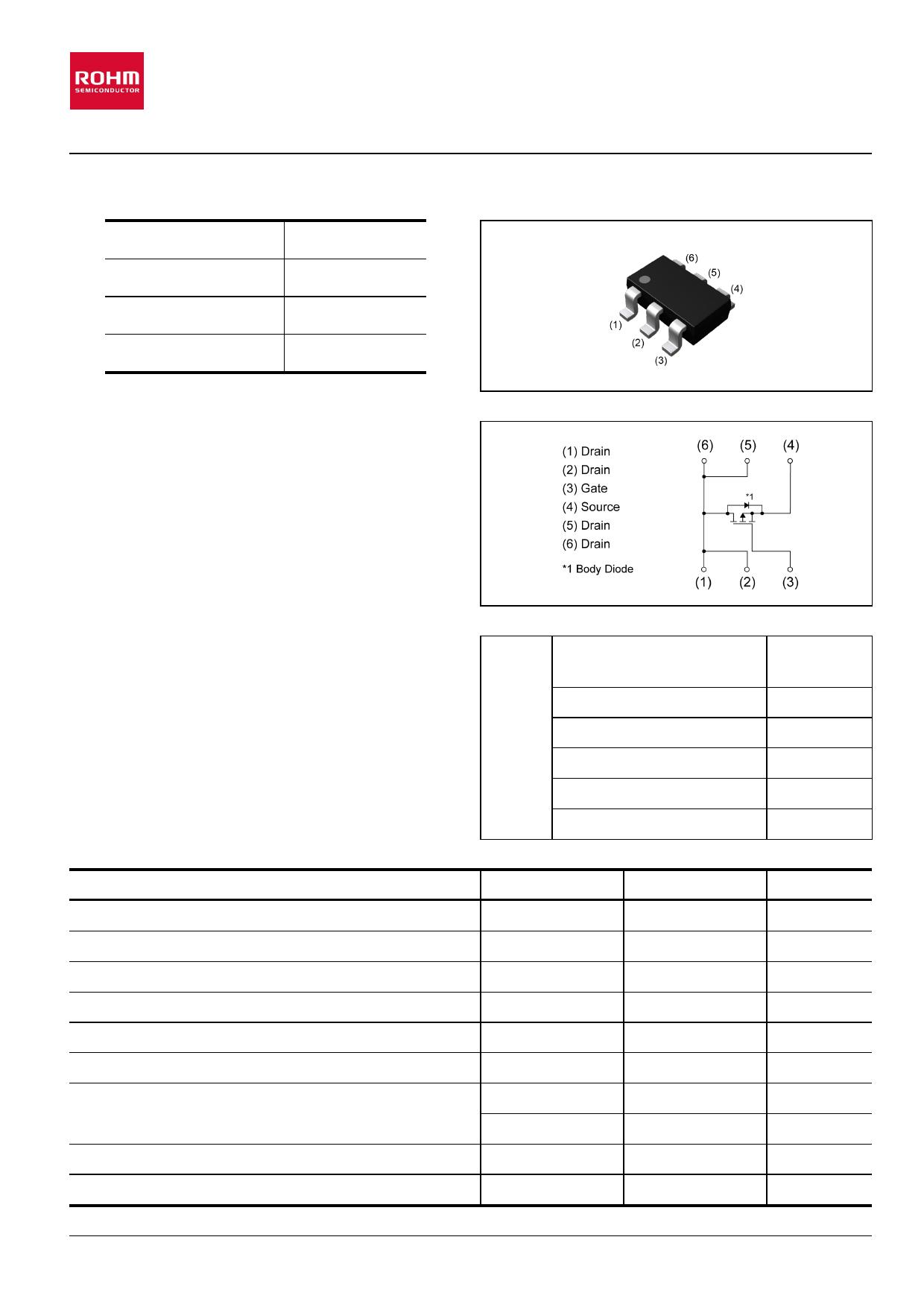 RQ6C065BC Datasheet, RQ6C065BC PDF,ピン配置, 機能