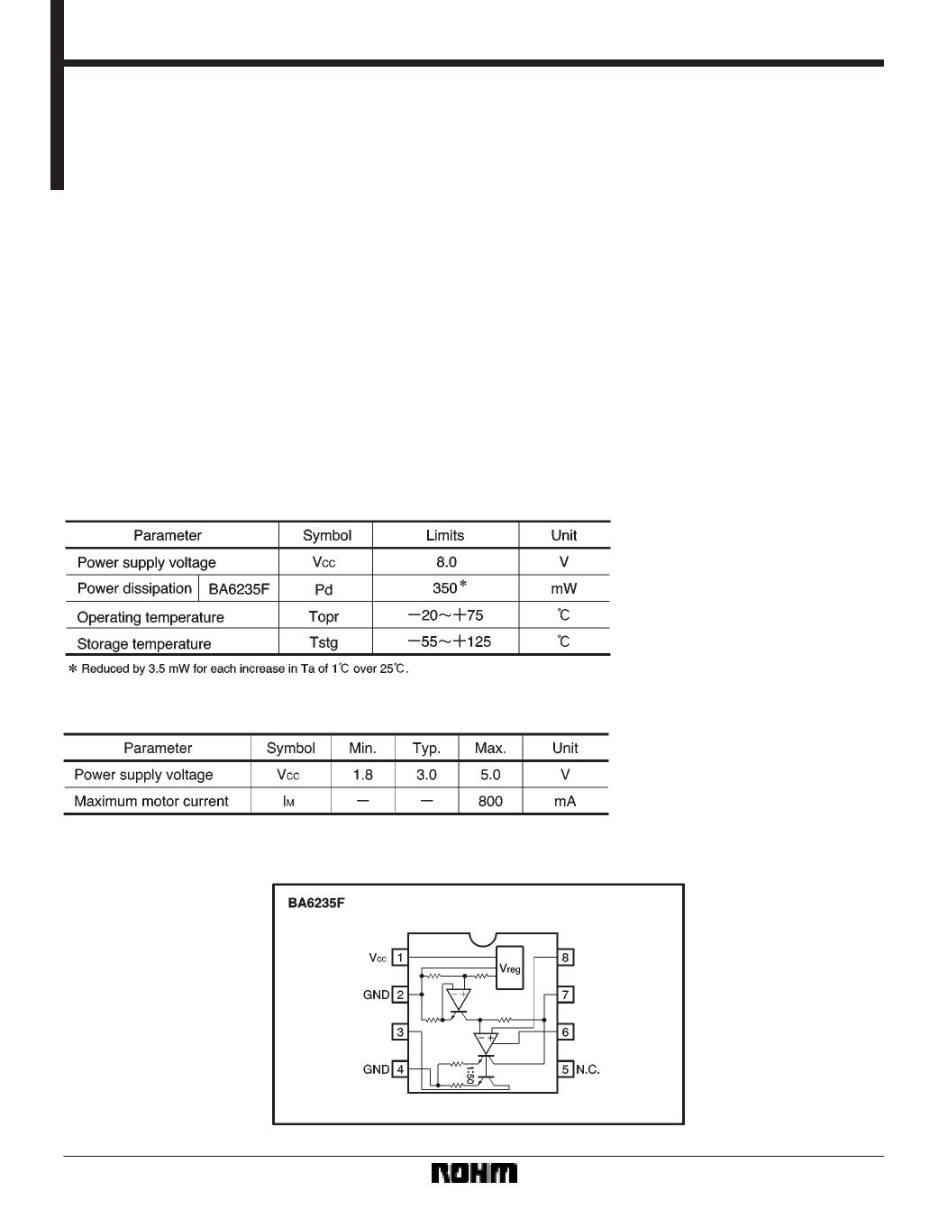 Ba6235 datasheet pdf pinout 3v electronic governor for 3v dc motor datasheet