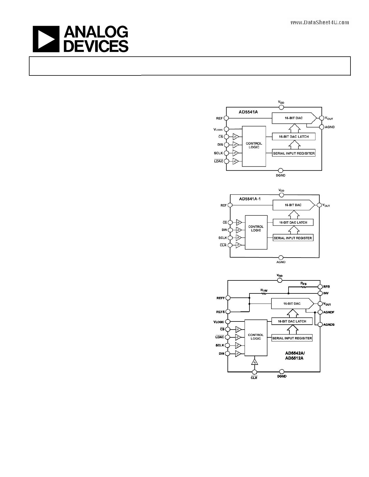 AD5542A даташит PDF