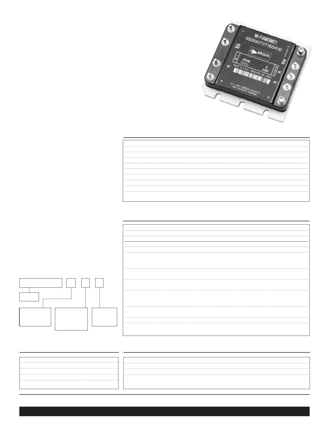 M-FIAM3MN3 datasheet
