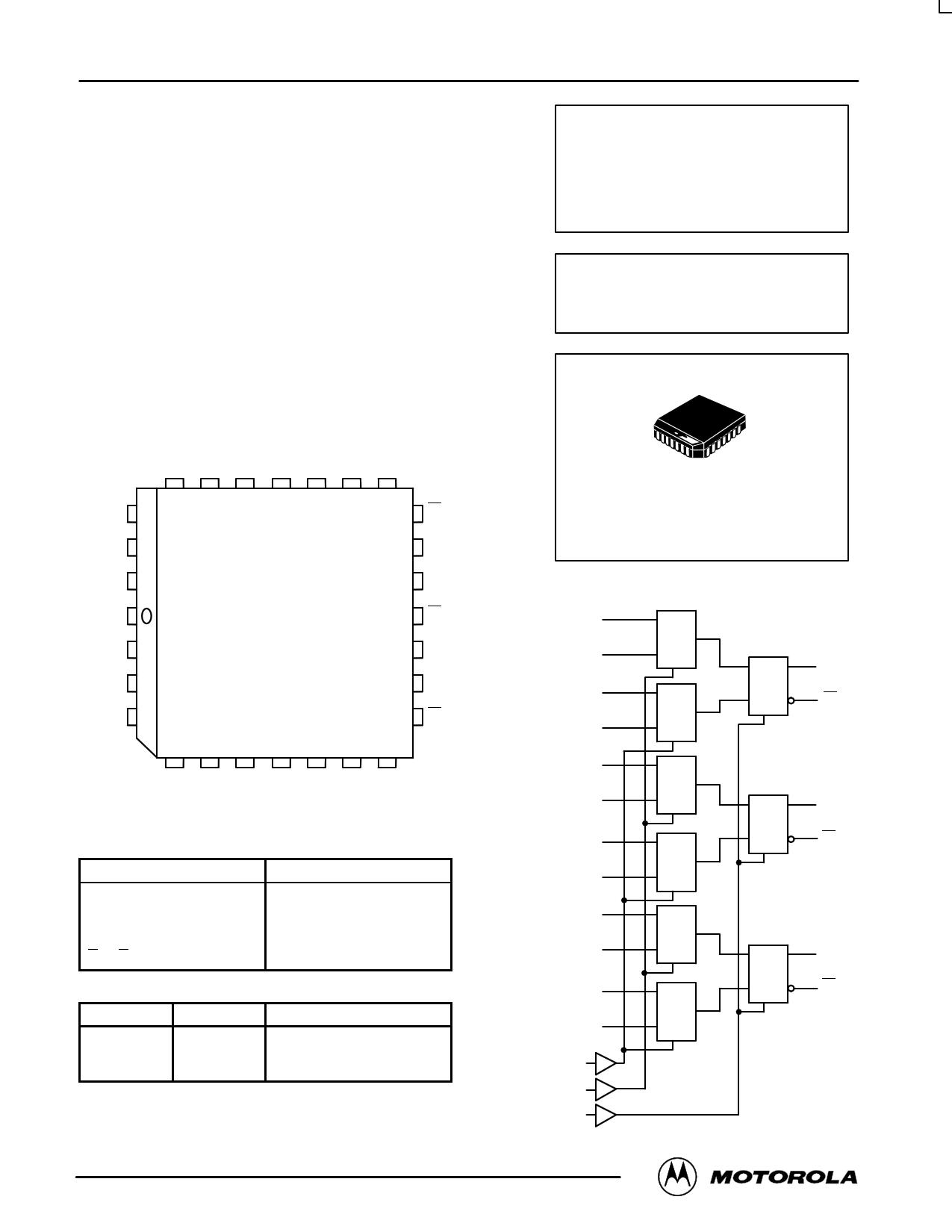 Mc10e171 Datasheet Pdf Pinout 3 Bit 4 1 Multiplexer