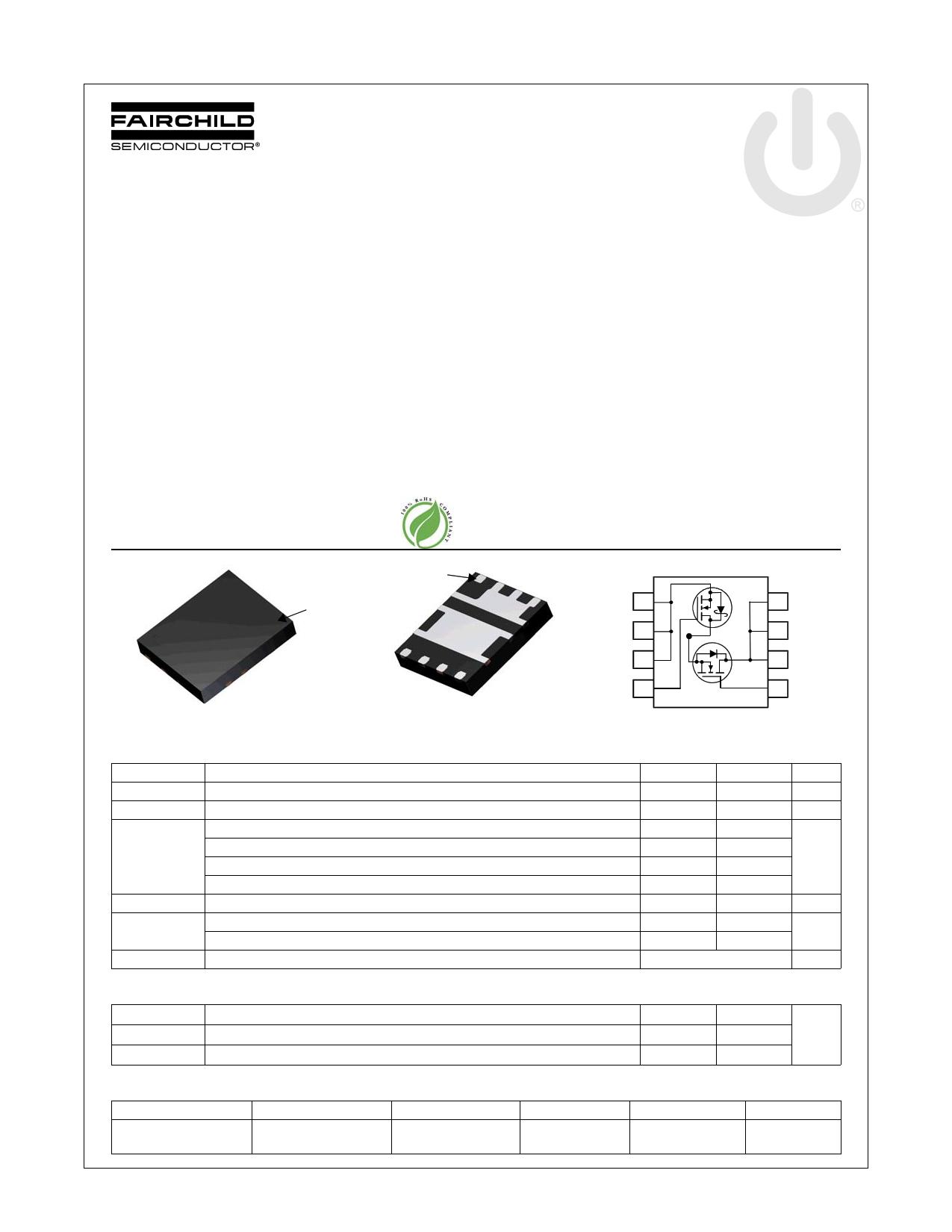 FDMS3620S 데이터시트 및 FDMS3620S PDF