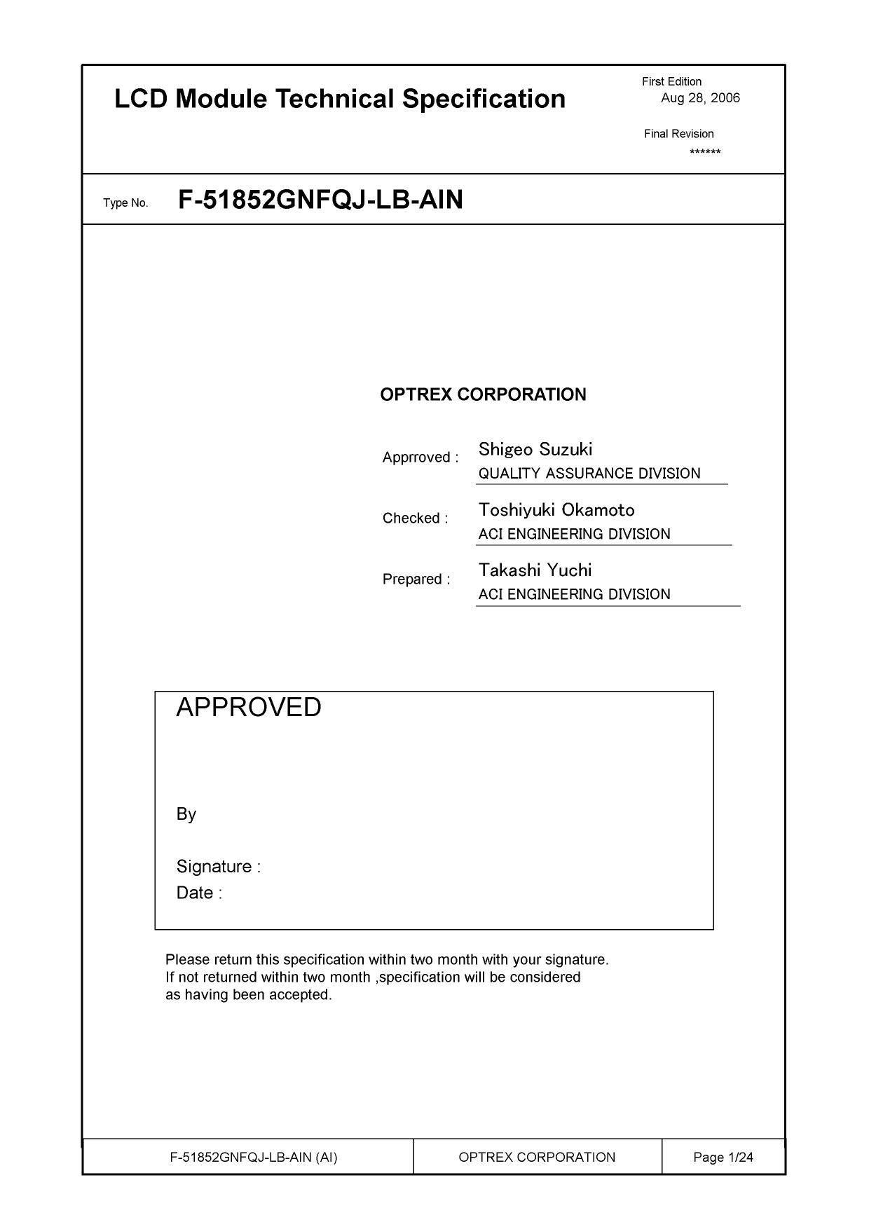 F-51852GNFQJ-LB-AIN دیتاشیت PDF
