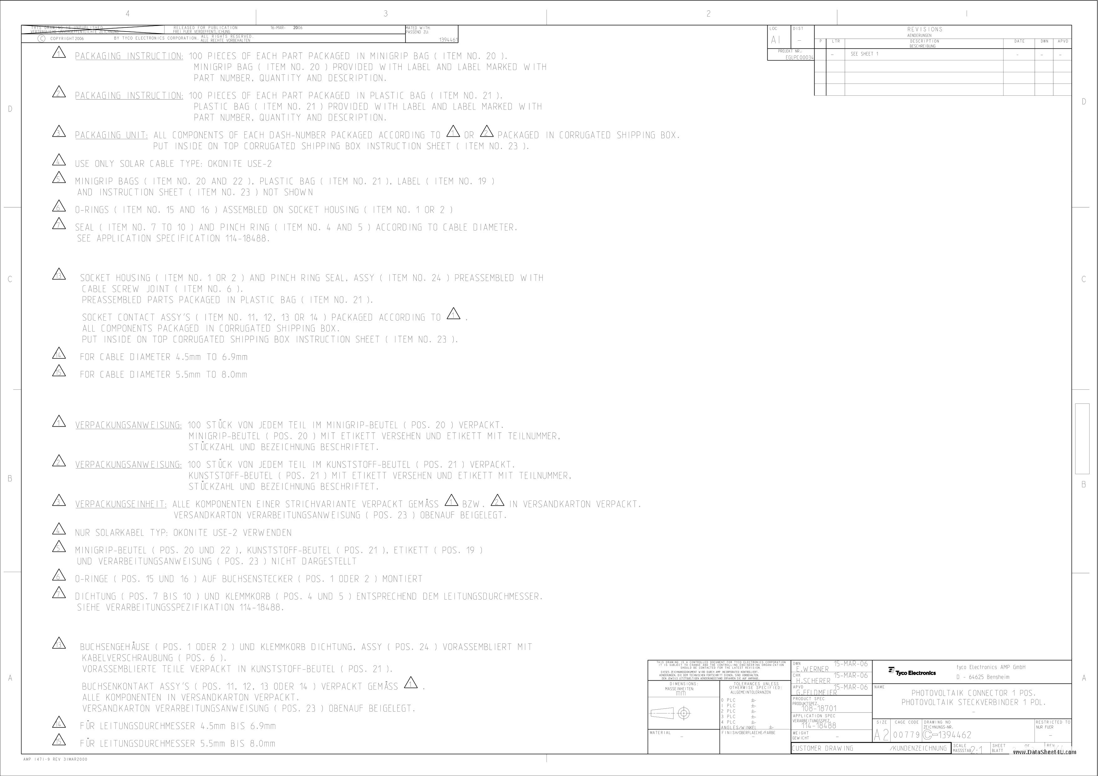C-1394462 Даташит, Описание, Даташиты