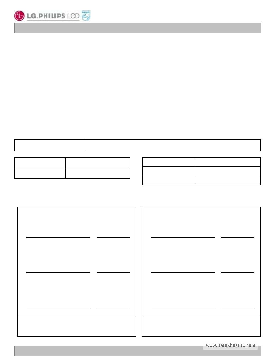 LC320W01 datasheet