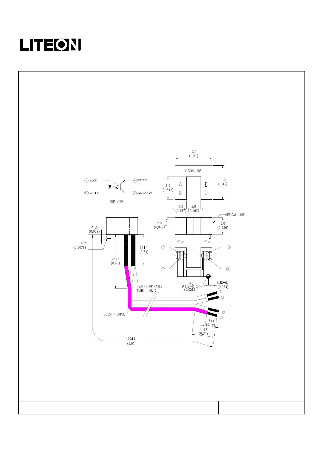 LTH-309-08W1 دیتاشیت PDF