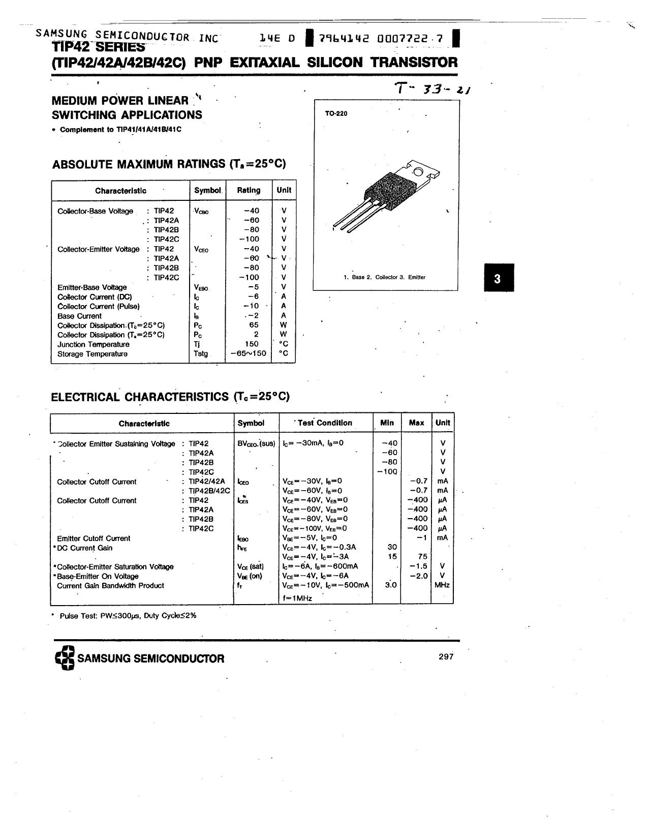 TIP42 دیتاشیت PDF