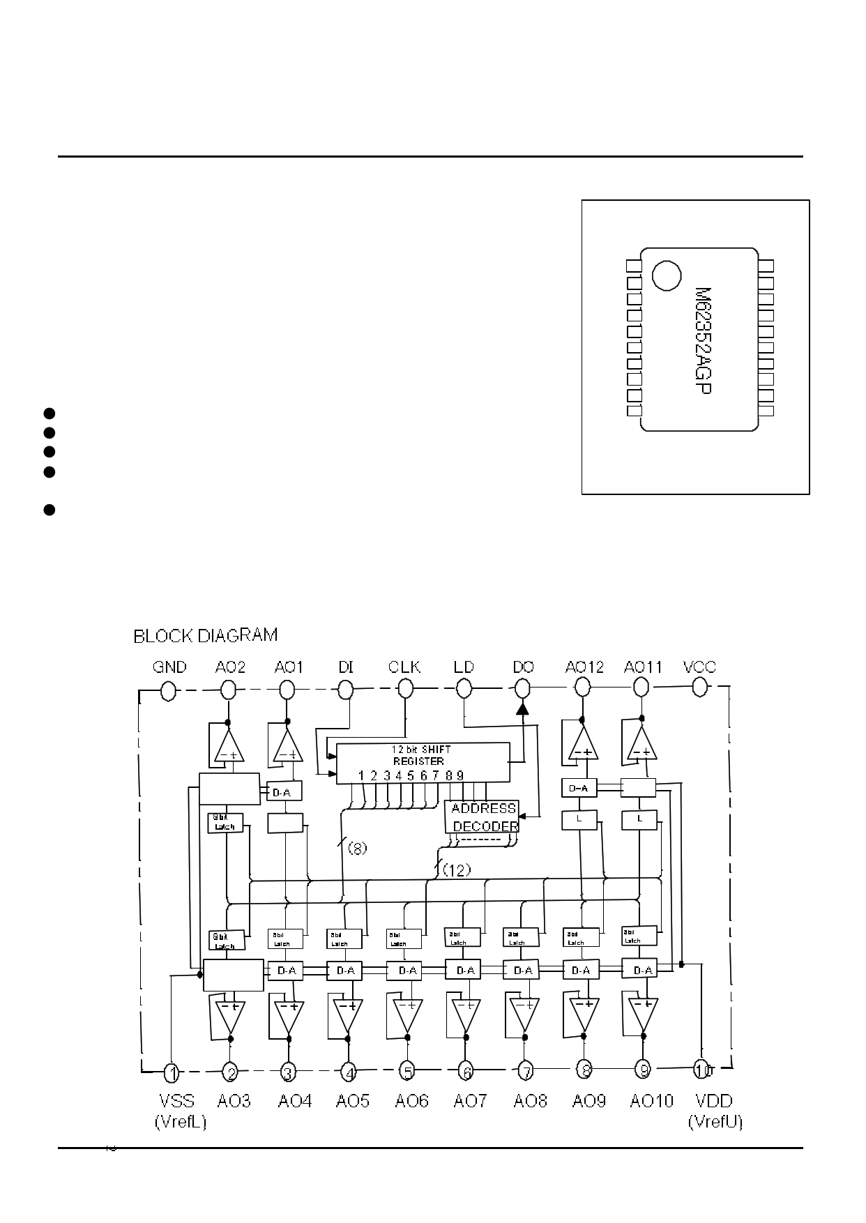 m62352agp datasheet pdf   pinout