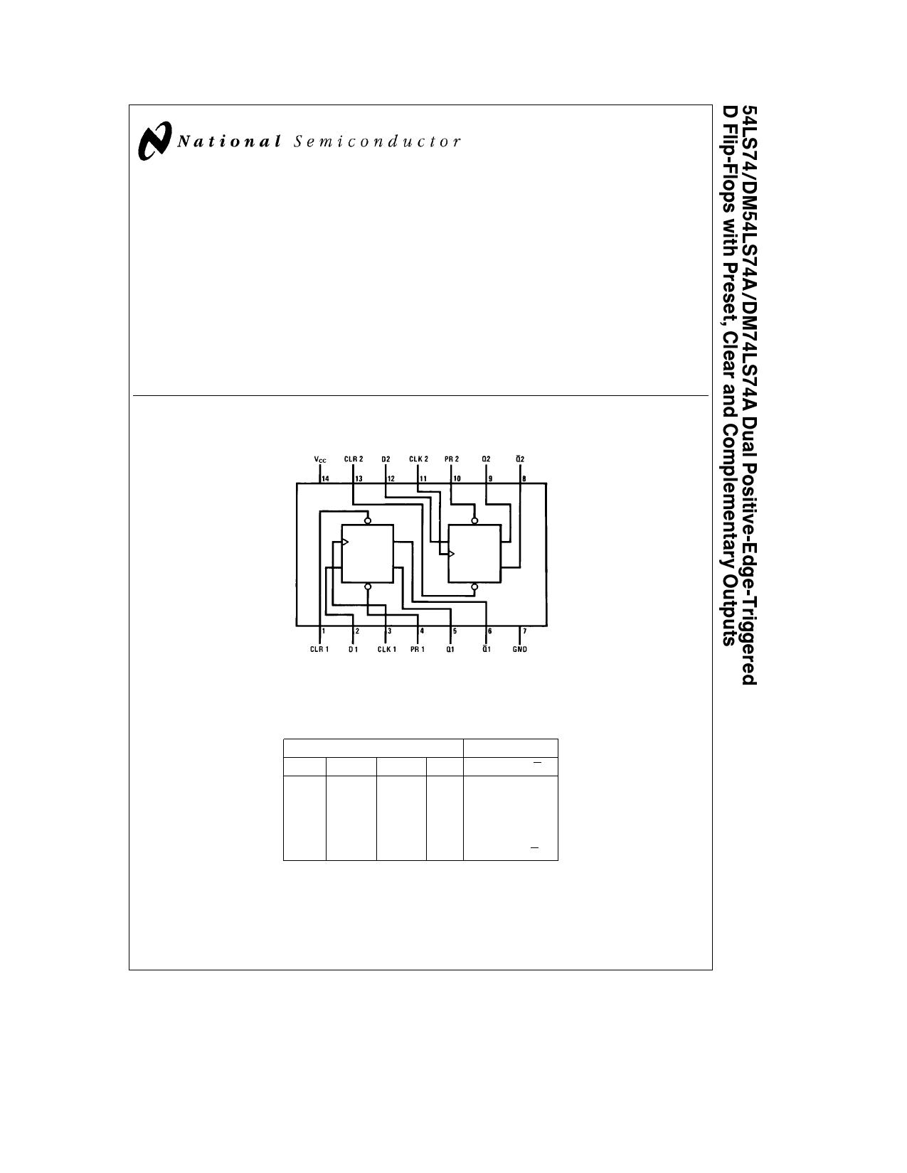 74ls74 datasheet pdf pinout dual positive edge. Black Bedroom Furniture Sets. Home Design Ideas