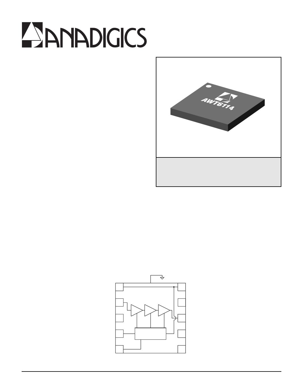 AWT6114 datasheet, circuit