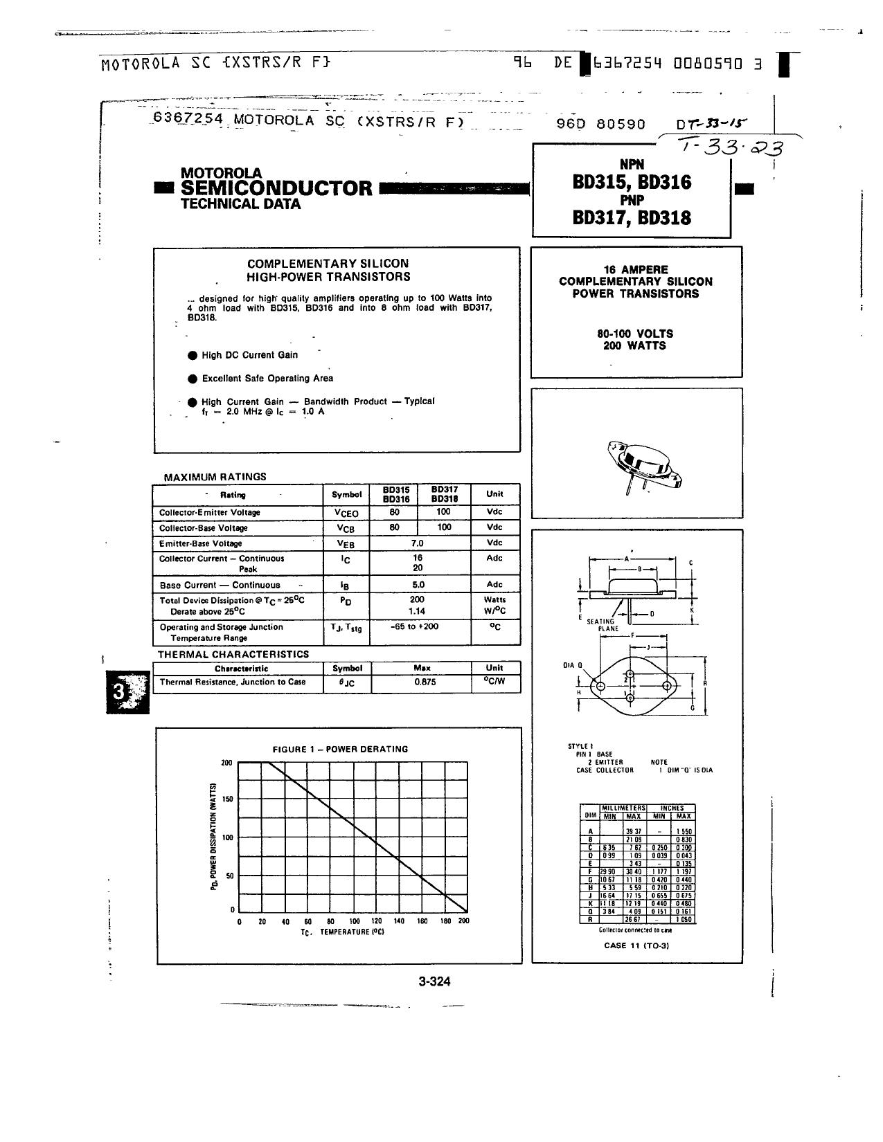 BD316 datasheet
