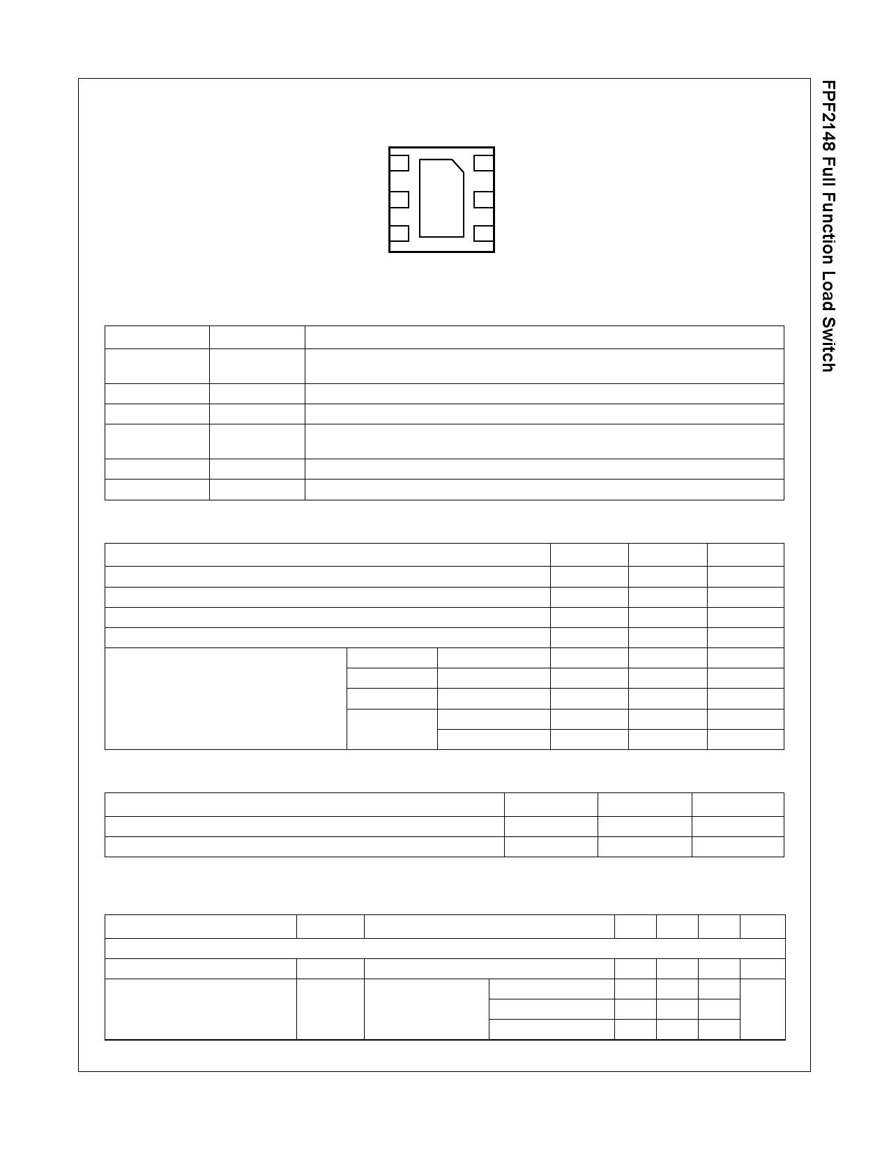 FPF2148 pdf, 電子部品, 半導体, ピン配列
