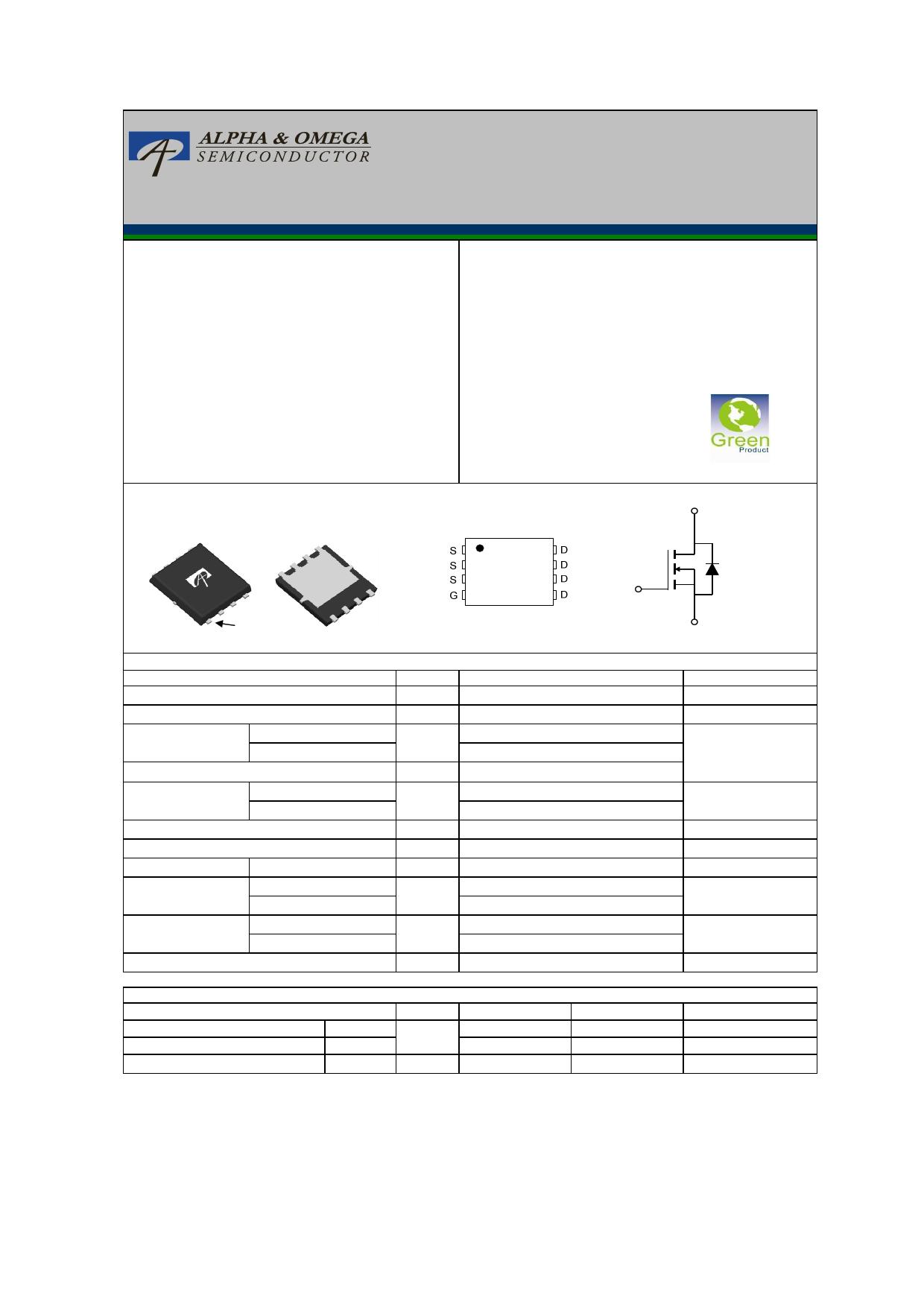 AON6530 Datasheet, AON6530 PDF,ピン配置, 機能