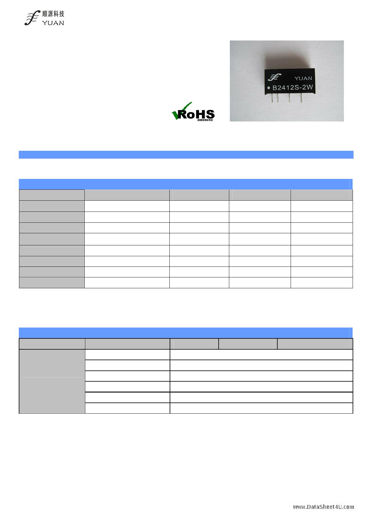 B0503S-2W Hoja de datos, Descripción, Manual