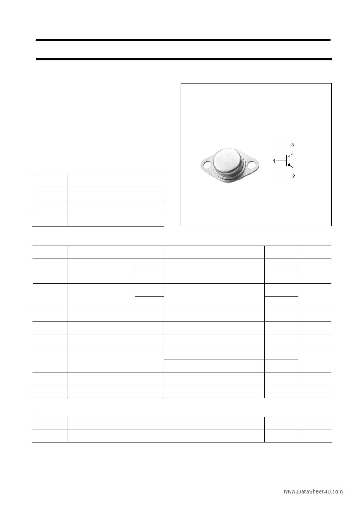 2N5660 دیتاشیت PDF