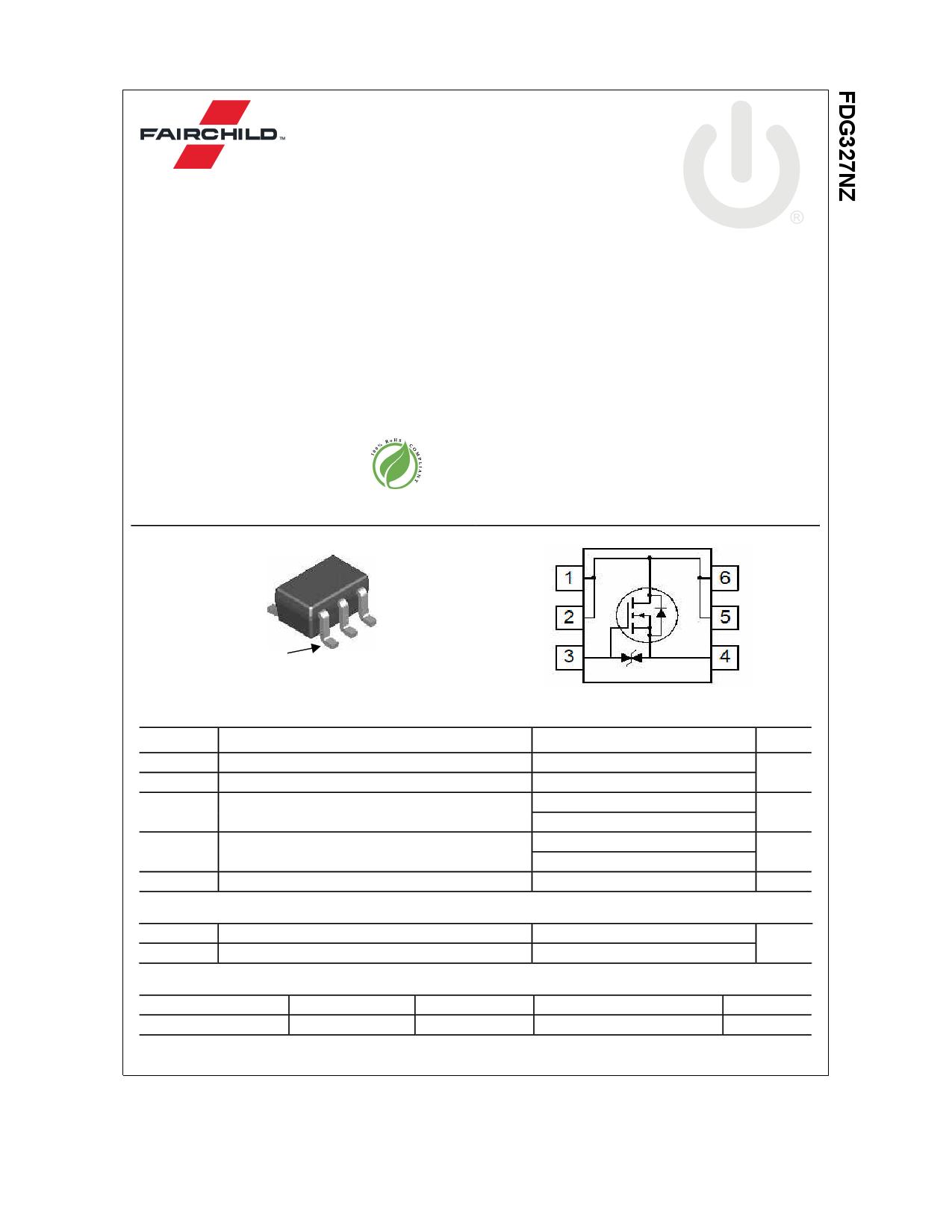 FDG327NZ 데이터시트 및 FDG327NZ PDF