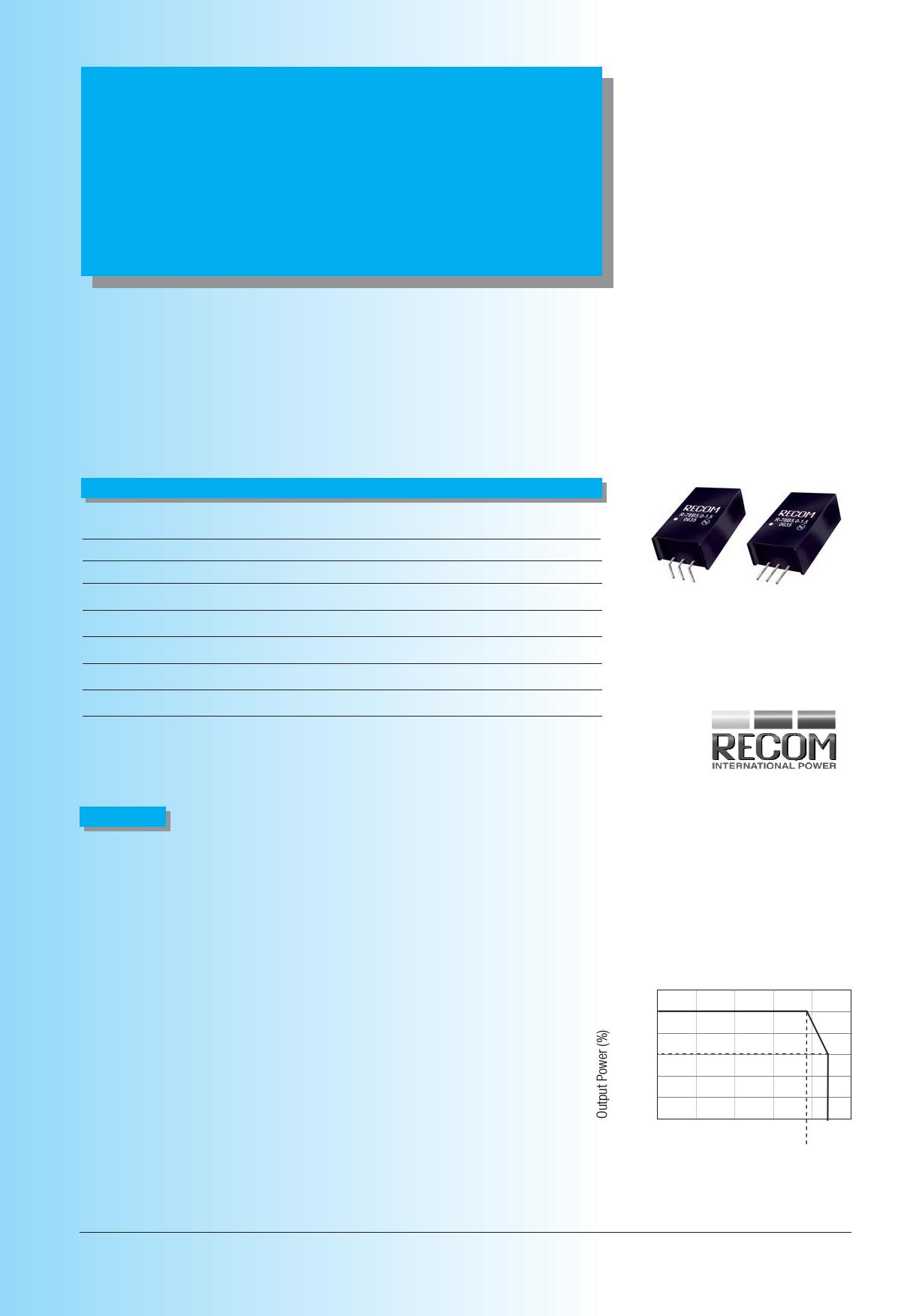 R-78Bxx-1.5L даташит PDF