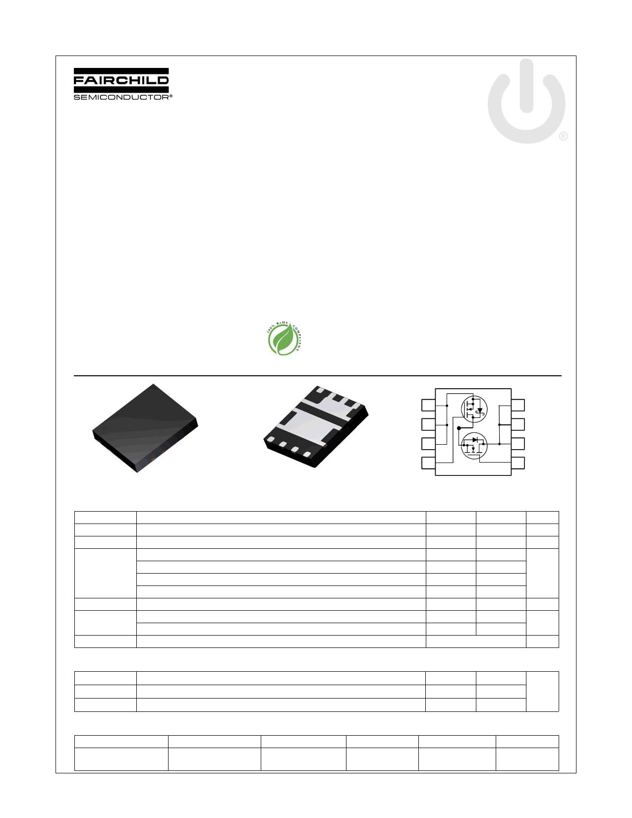 FDMS3604AS 데이터시트 및 FDMS3604AS PDF