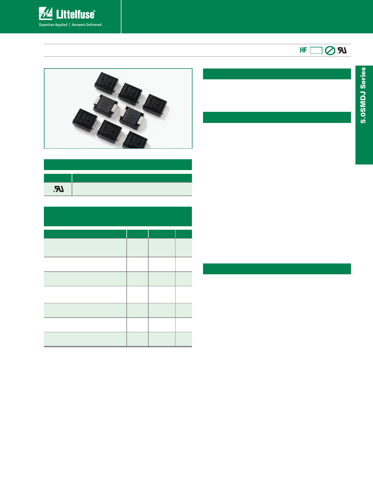 5.0SMDJ150CA دیتاشیت PDF