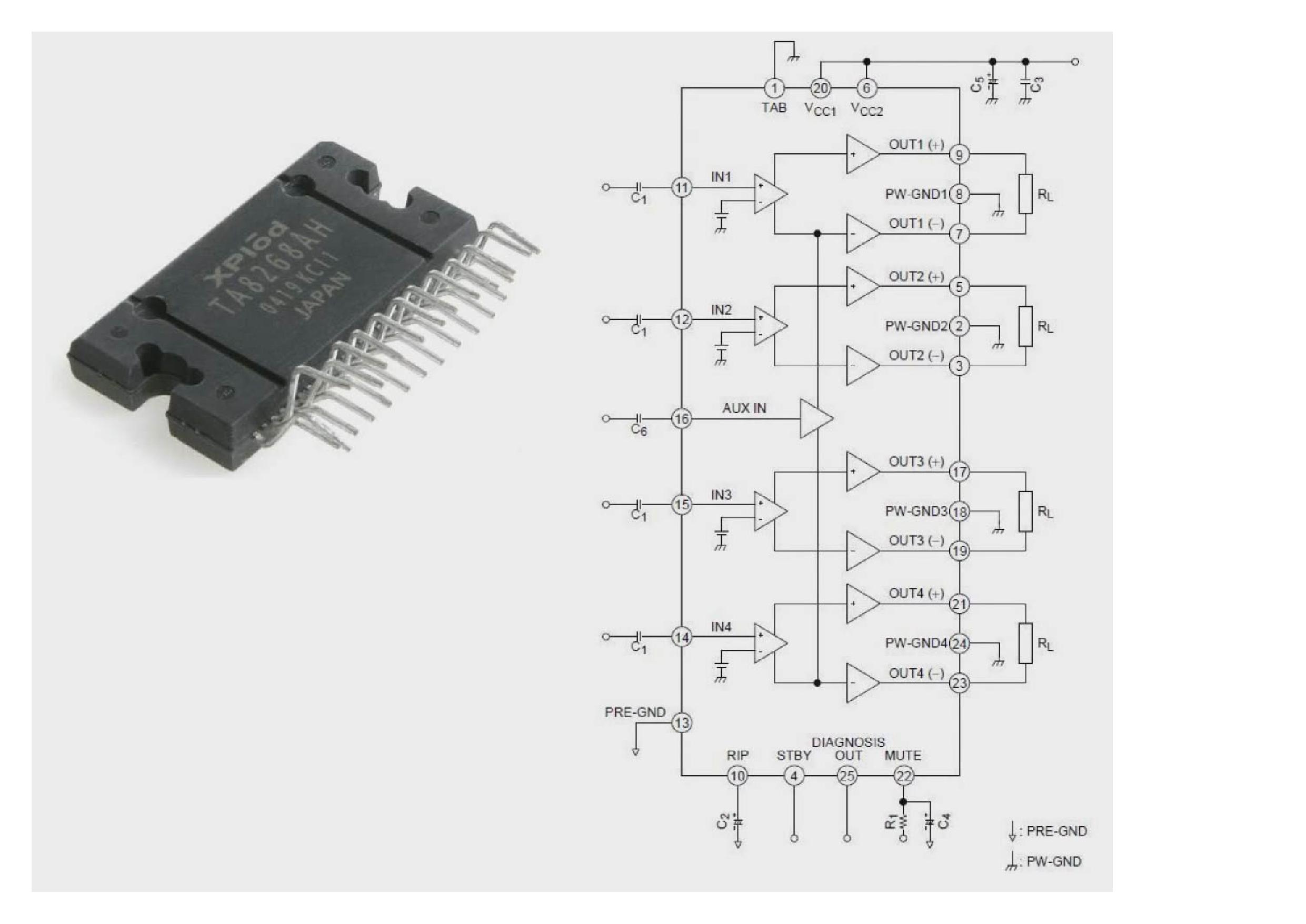 Микросхема pa2032a заменяет ли tb2901hq и tda7560a