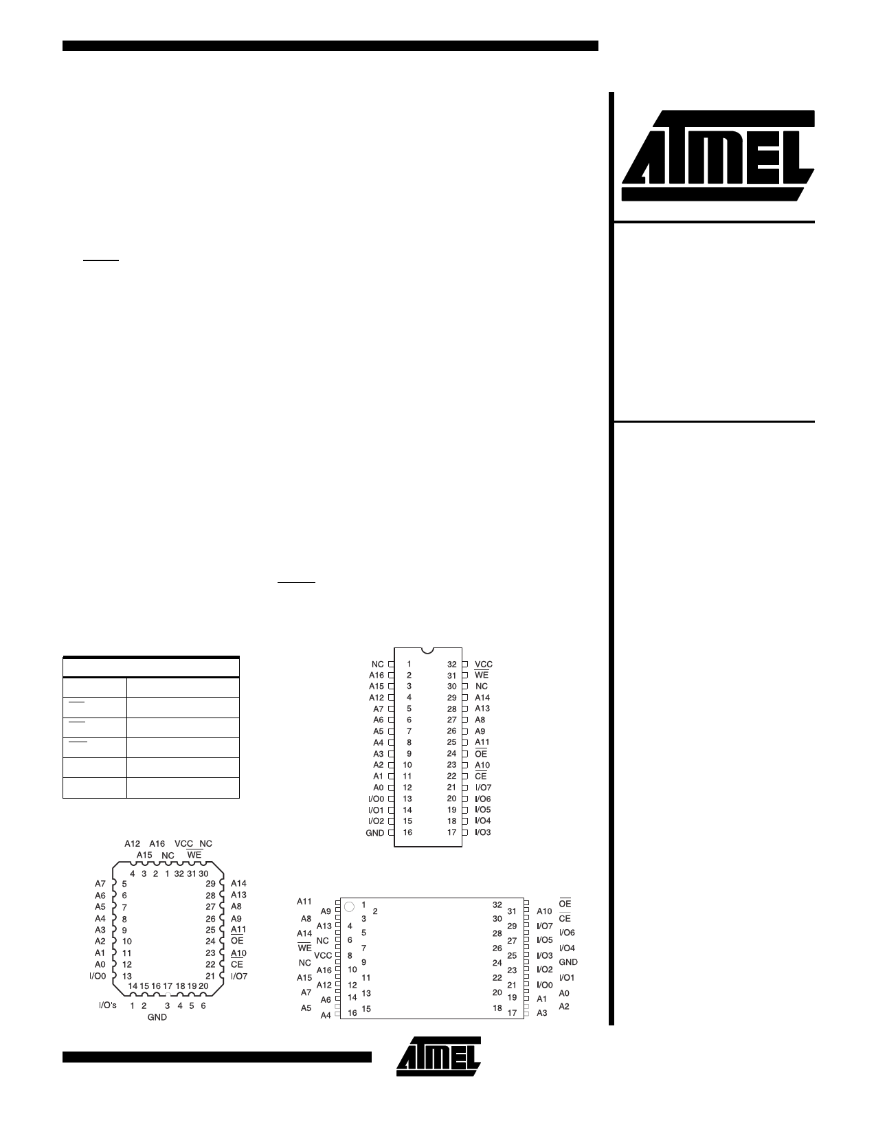 AT49F010 دیتاشیت PDF