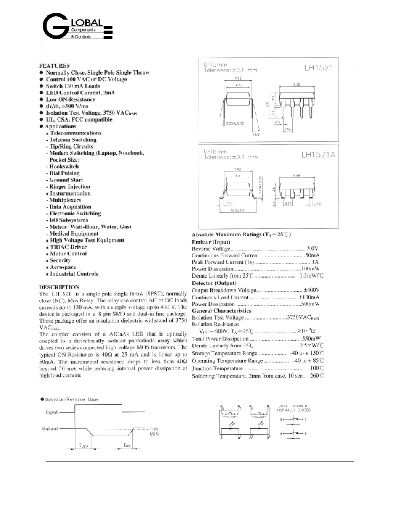 LH1521 دیتاشیت PDF